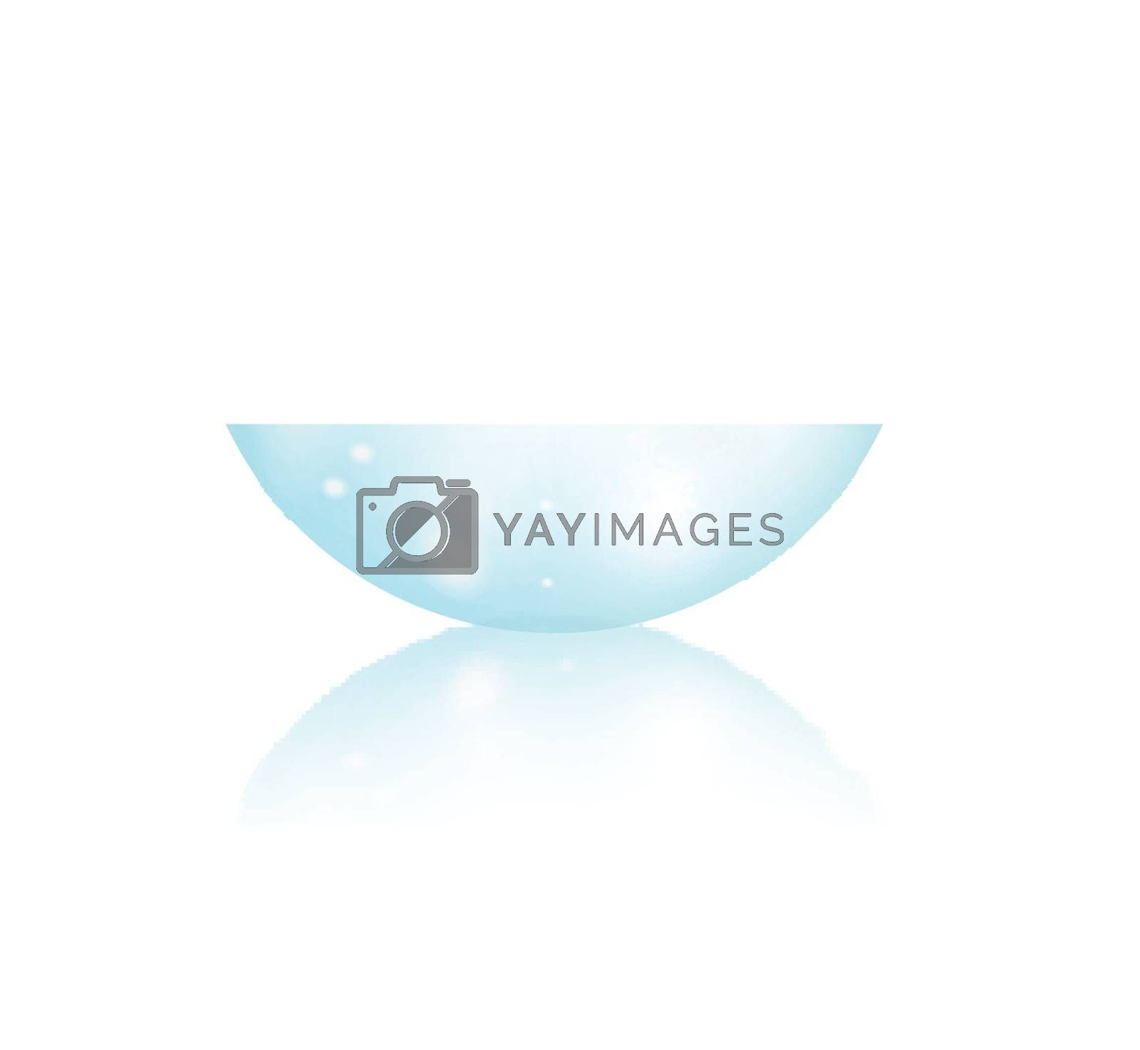 Contact lens. Side view. Vector illustration on white background