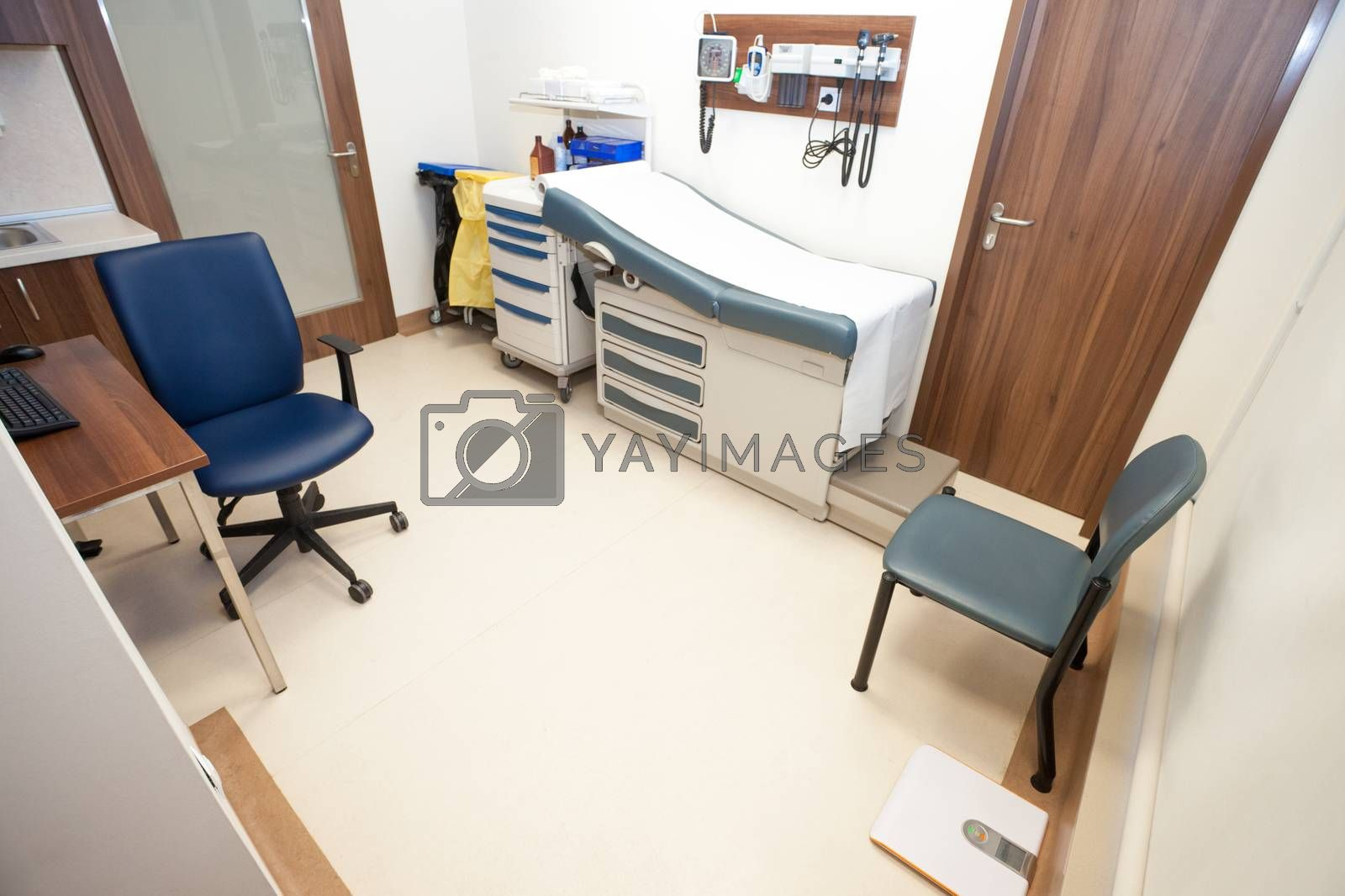 An empty furnished modern light office of general practitioner.