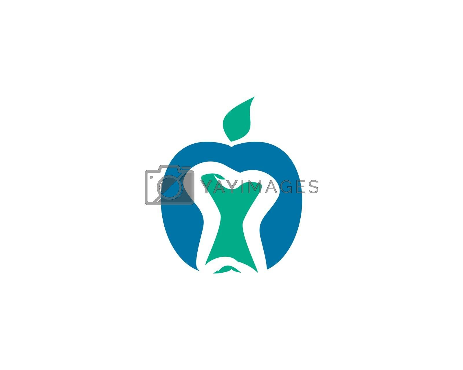is a symbol in the form of teeth symbolizing dental care, dental treatment or dental clinic