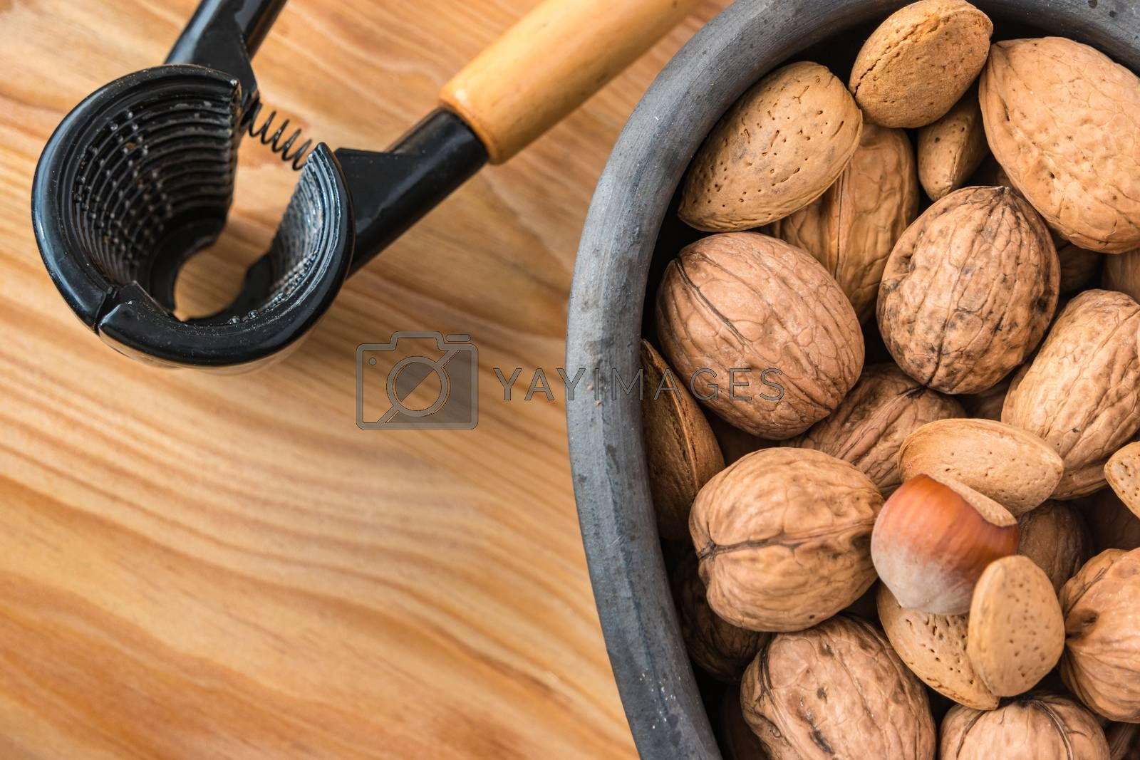 Assorted nuts by homydesign
