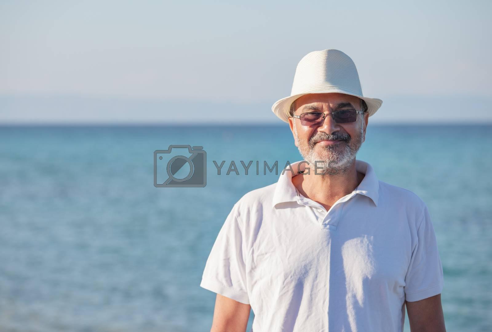 Royalty free image of Elderly Man Sea Portrait by vilevi