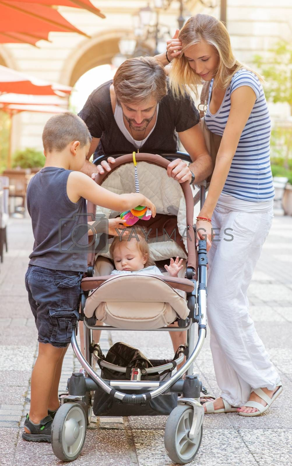 Royalty free image of Family Four Mother Father Brother by vilevi