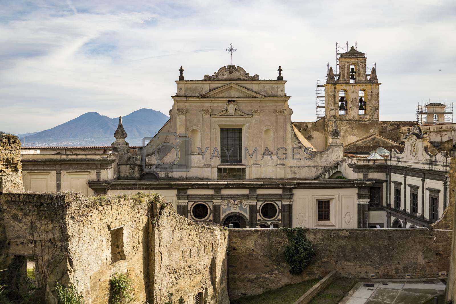 View of the Certosa di San Martino in Naples, Italy