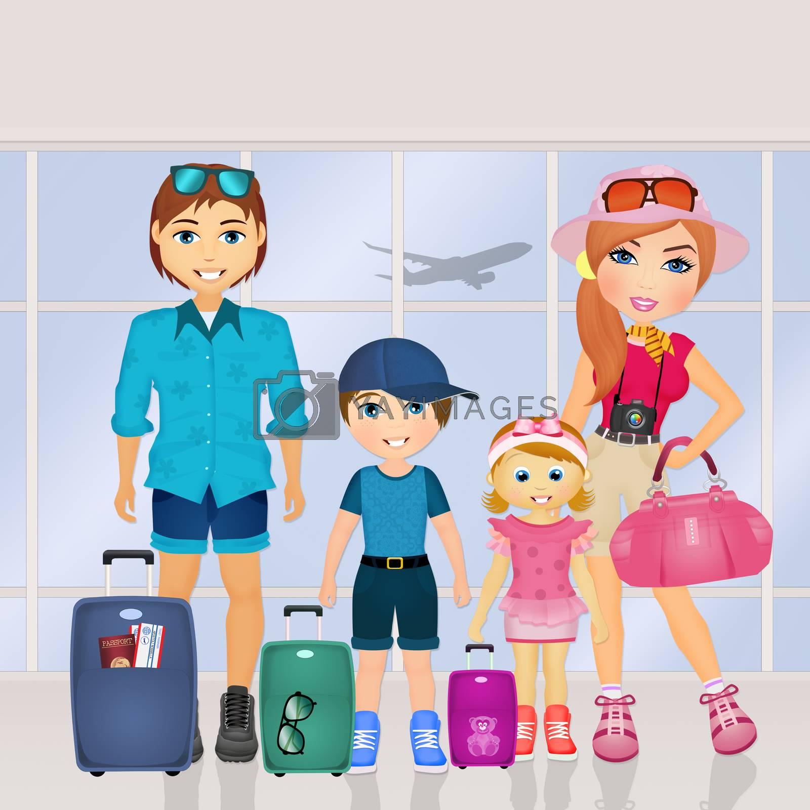 happy family on vacation by adrenalina