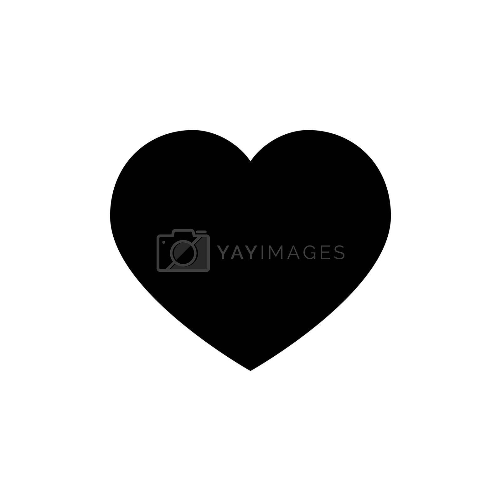 Heart vector icon. Love symbol. Valentine s Day sign. Love icon isolated on white background. Black heart emblem in flat style for graphic and web design, logo.