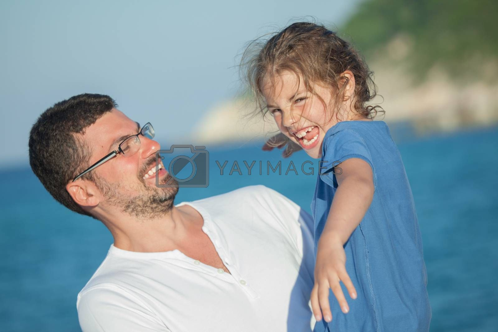 Royalty free image of Girl Daughter Father by vilevi