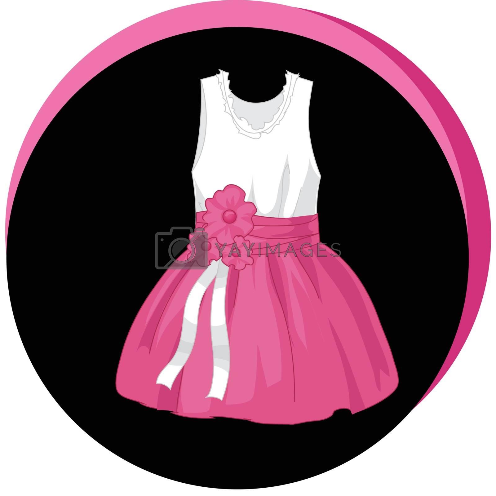 Fashion Vector Illustration. Stylish dress icon. Elegant outfit