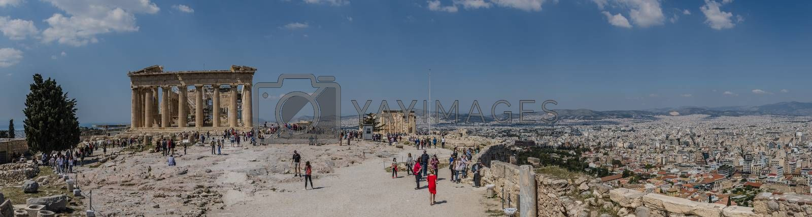 acropolis point of interest in athens panorama view