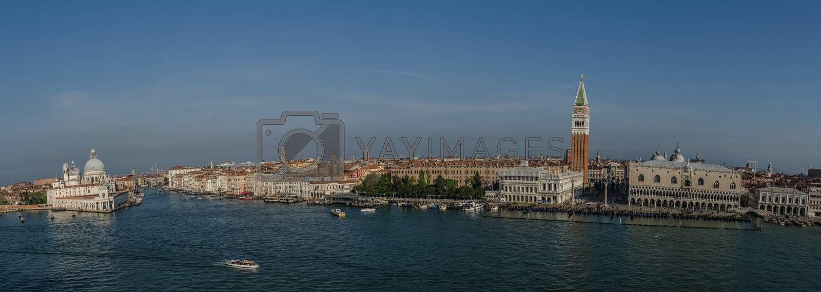St. Mark's Square in Venice panorama view