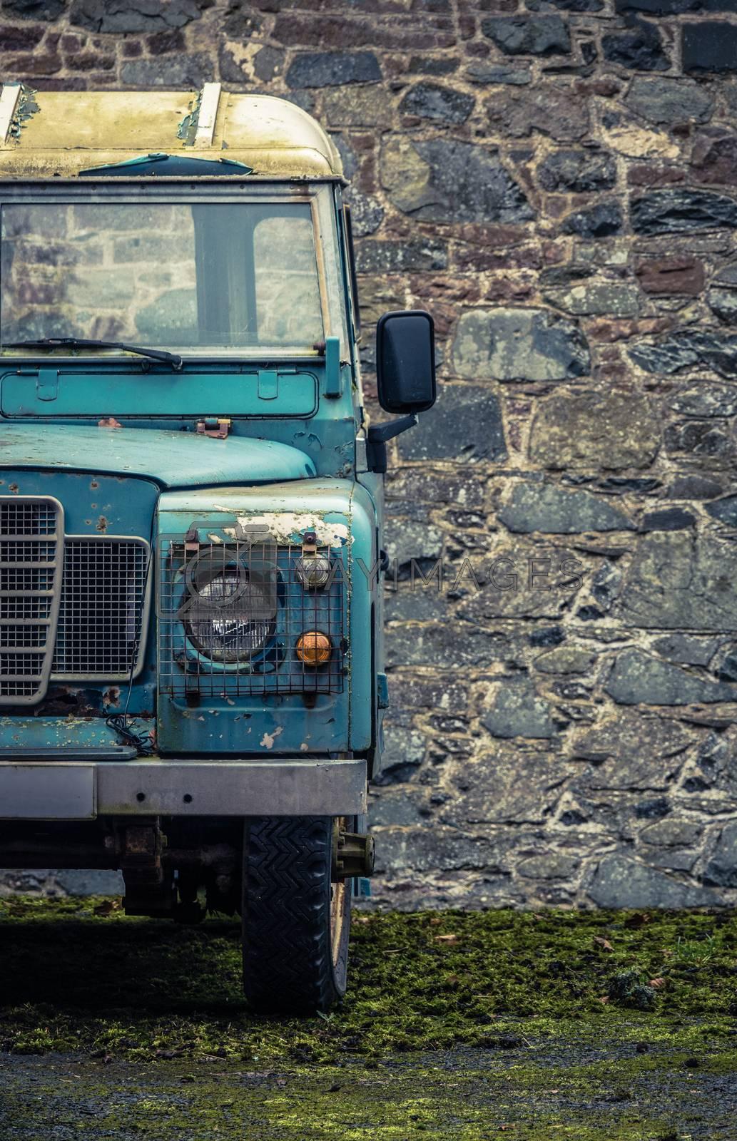 Grungy Farmyard Truck by mrdoomits