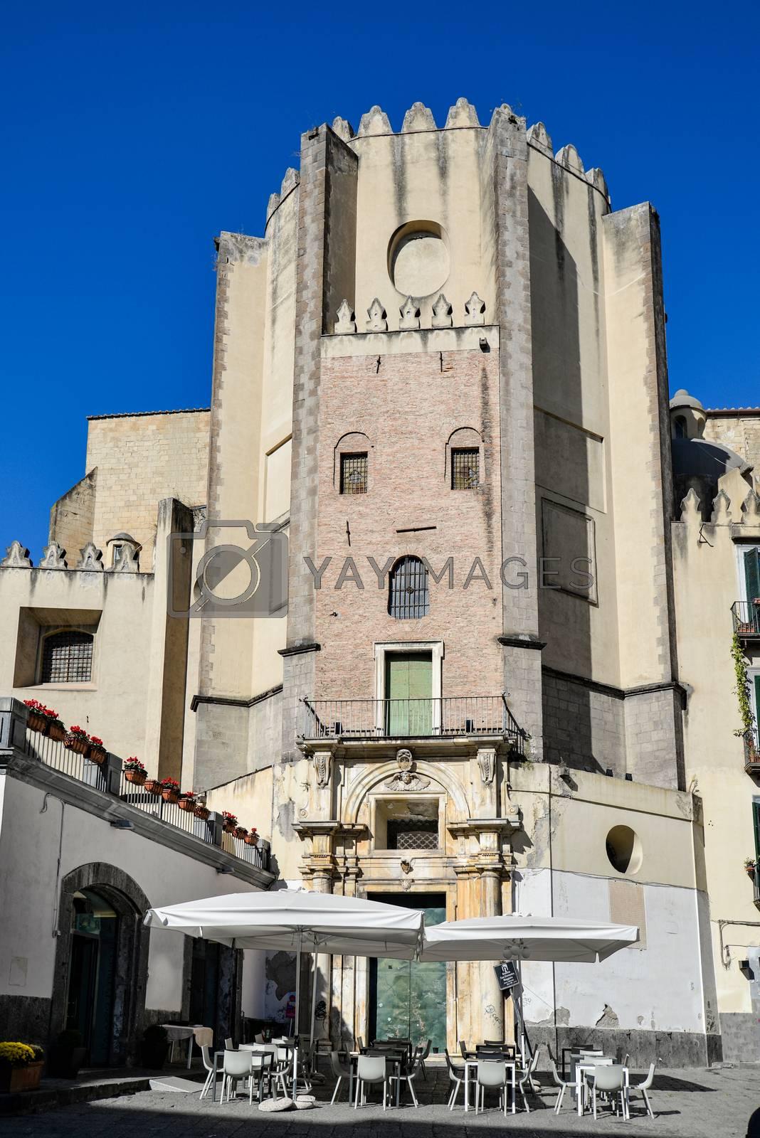 San Domenico Maggiore, one of the main churches in Naples, Italy