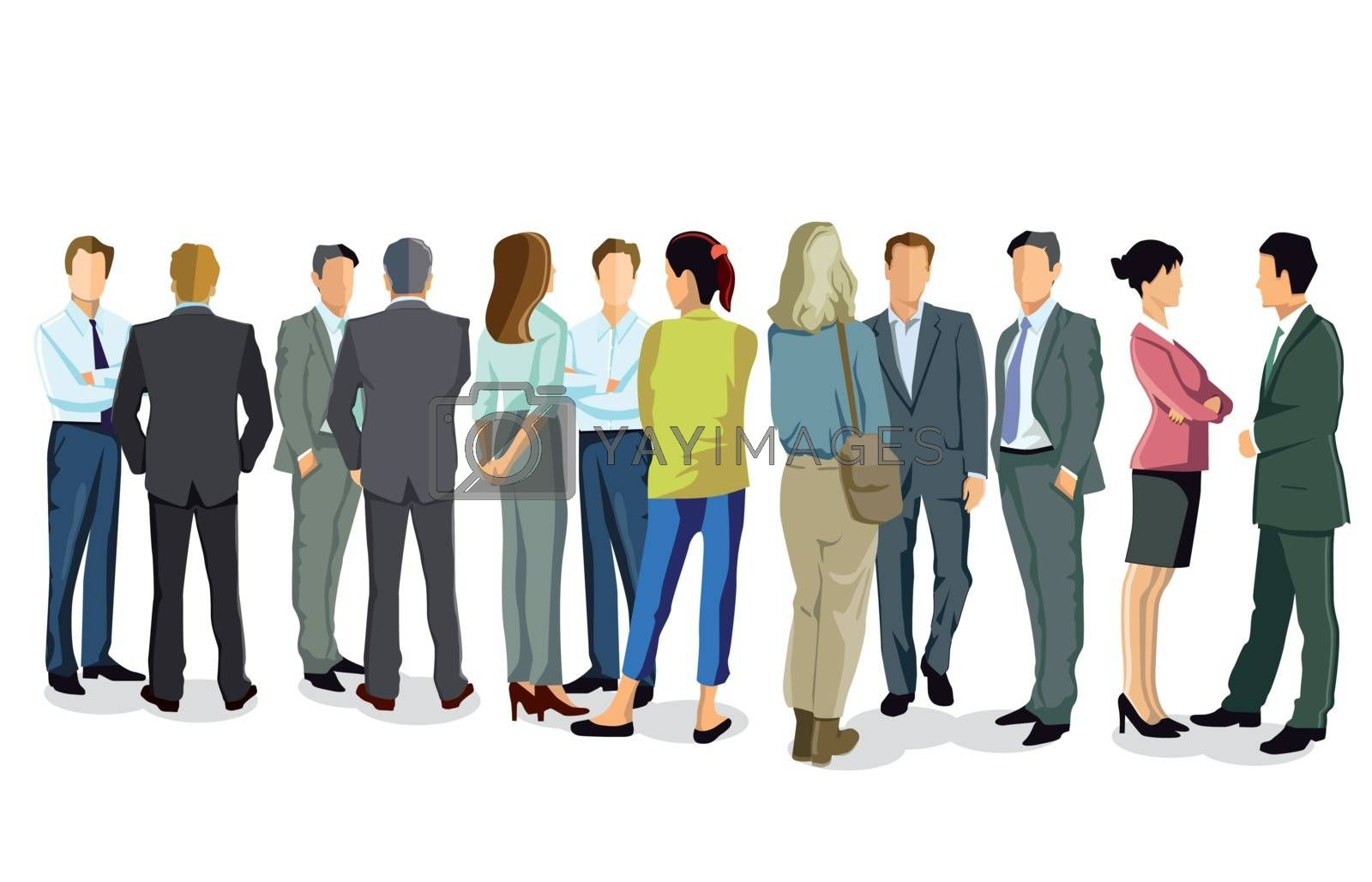 Gathering of a group of people Illustration