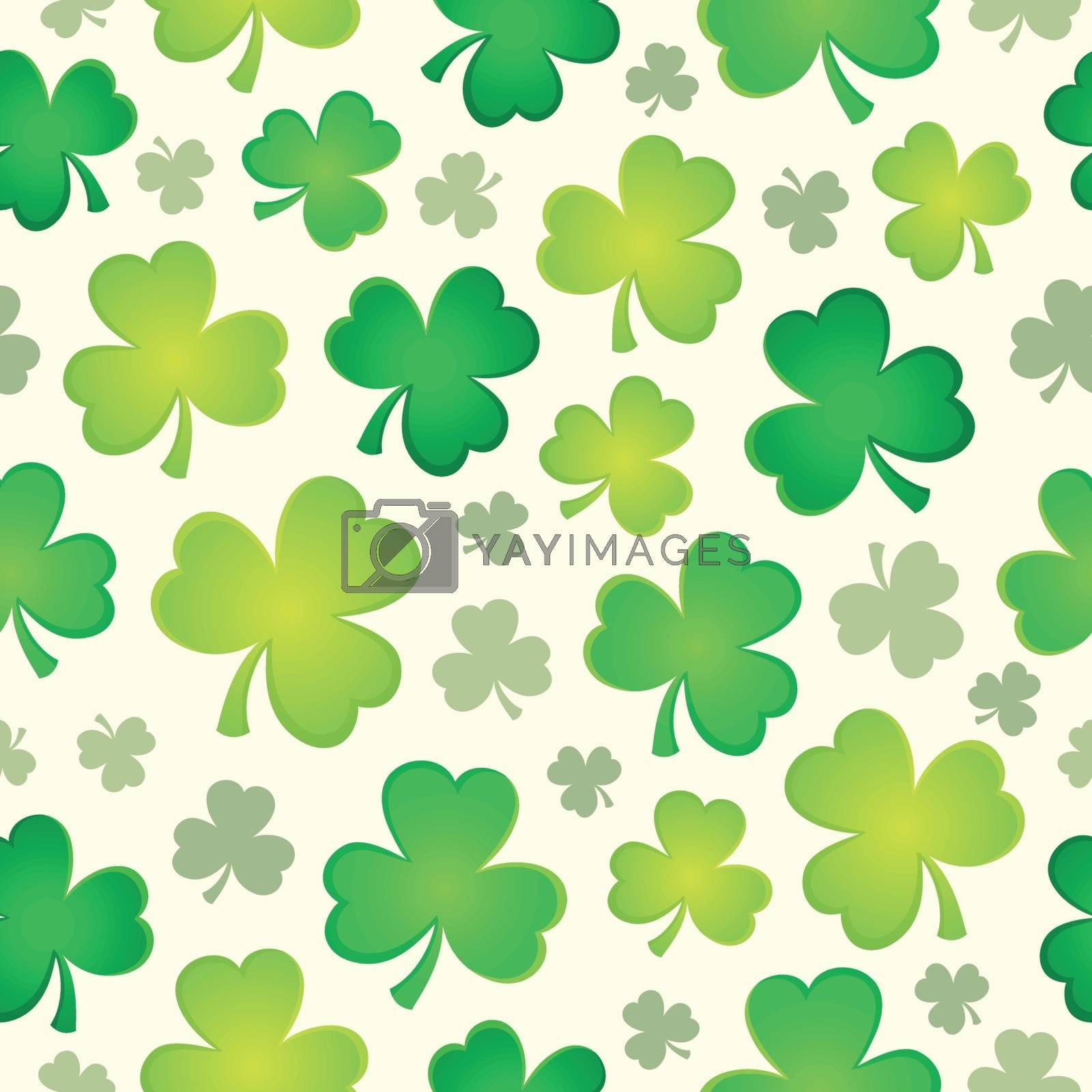 Three leaf clover seamless background 1 - eps10 vector illustration.