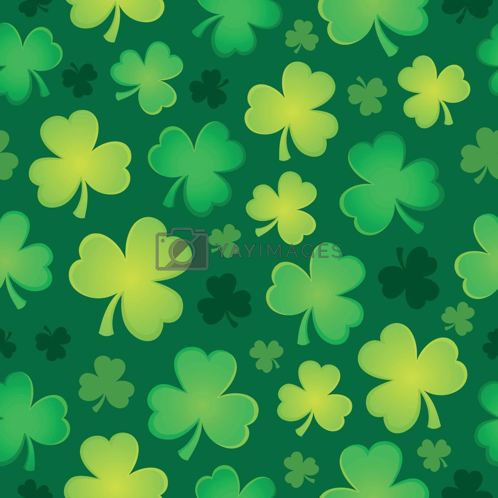 Three leaf clover seamless background 2 - eps10 vector illustration.