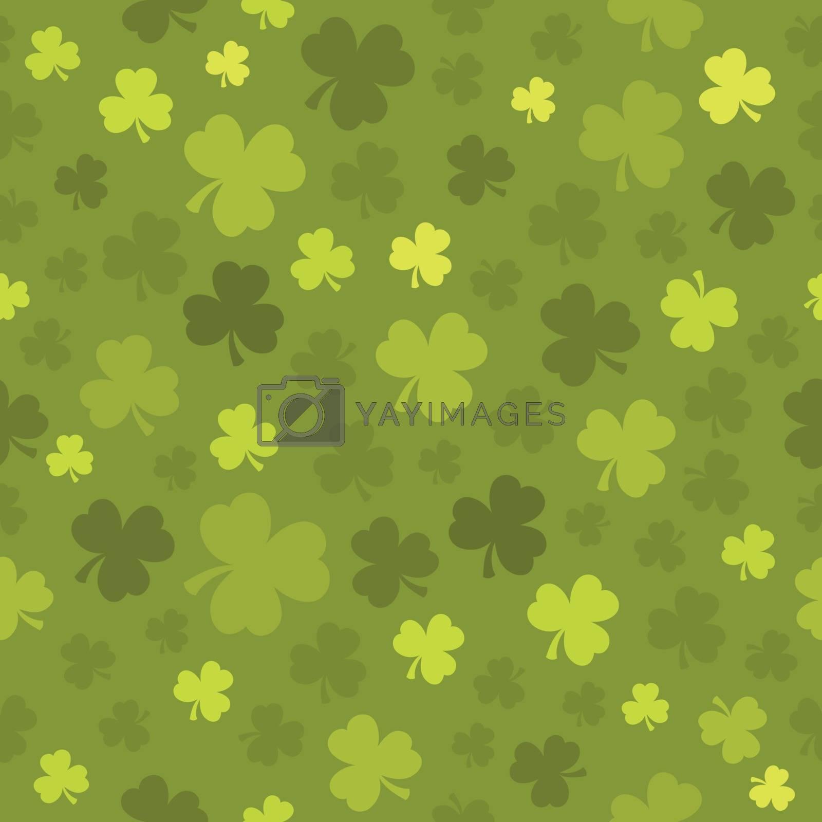 Three leaf clover seamless background 3 - eps10 vector illustration.