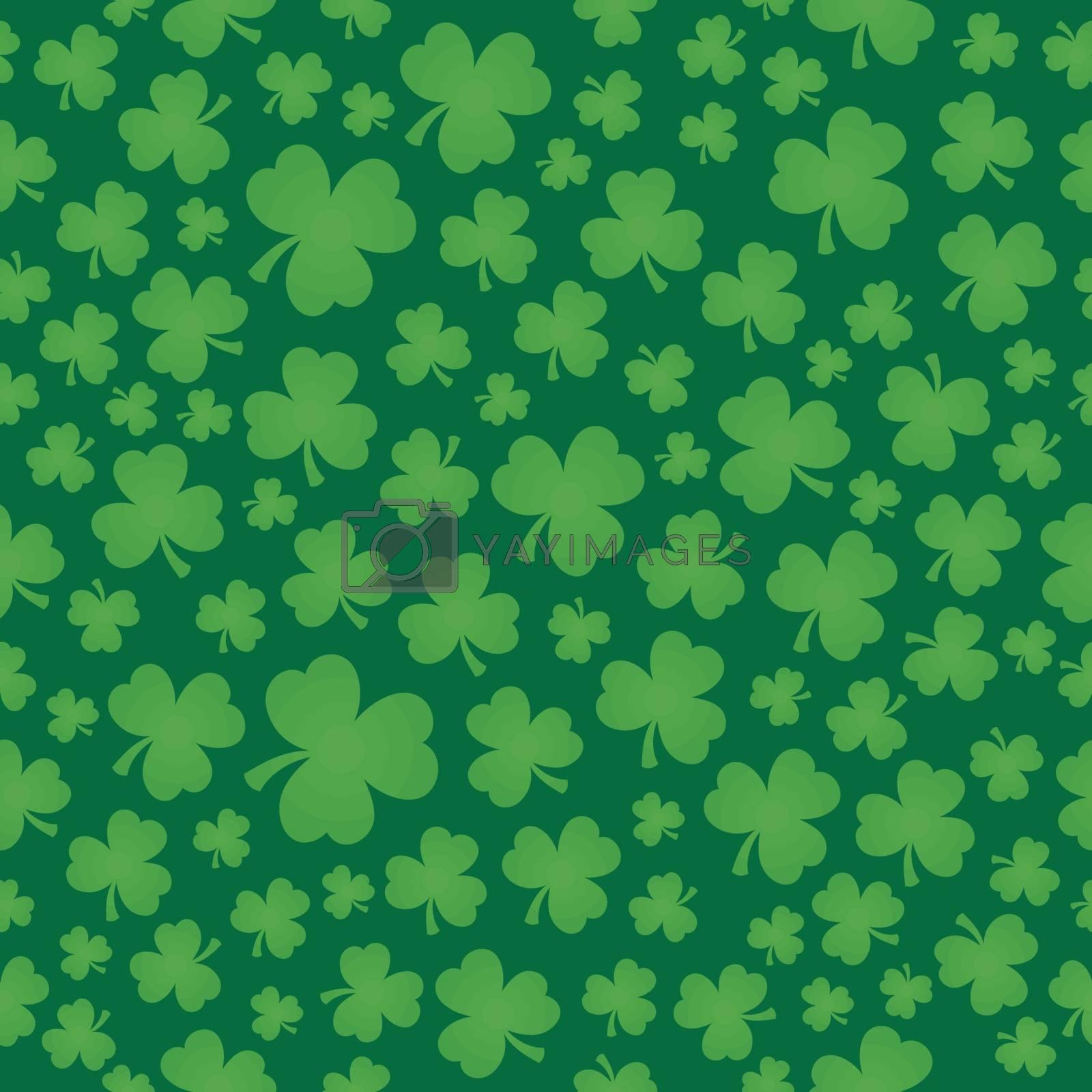 Three leaf clover seamless background 6 - eps10 vector illustration.