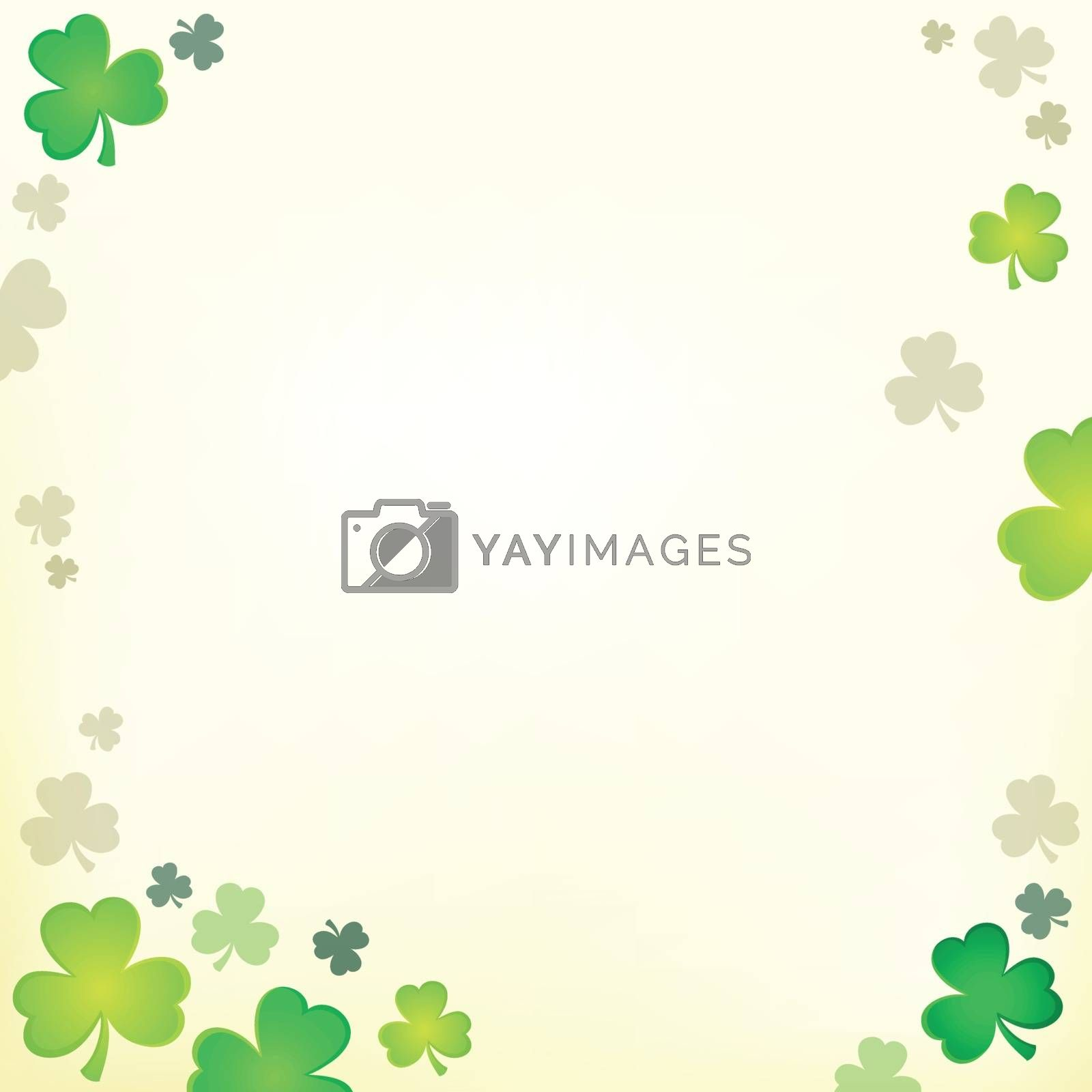 Three leaf clover theme 1 - eps10 vector illustration.