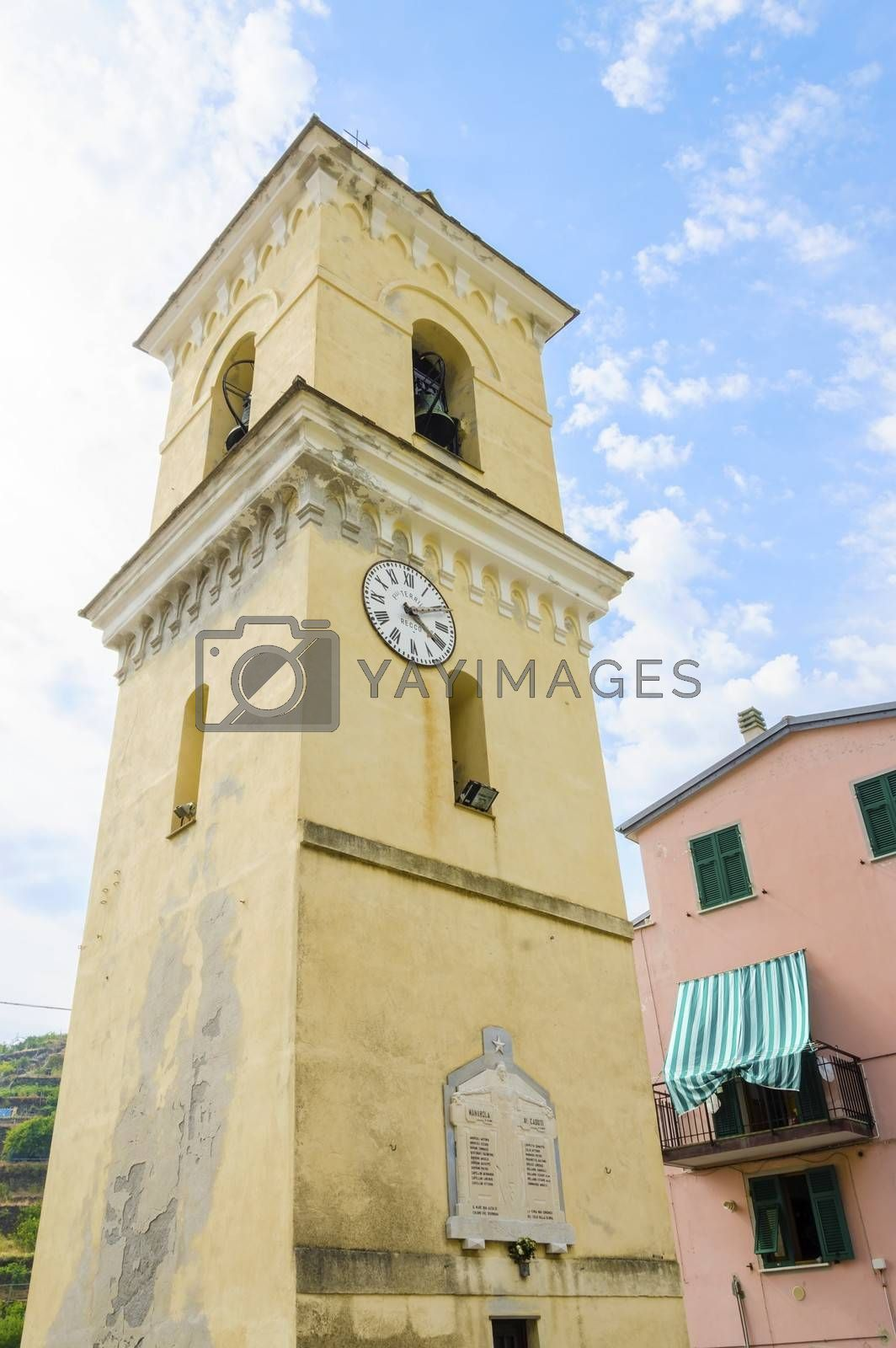 San Lorenzo church bell tower, Manarola, Cinque Terre, Italy by f8grapher