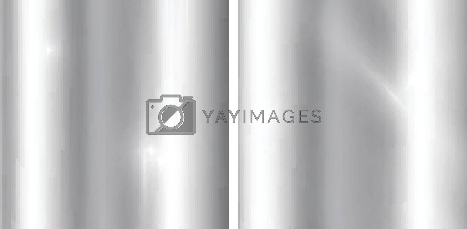 Silver gradients background. Realistic metallic texture. Elegant by phochi