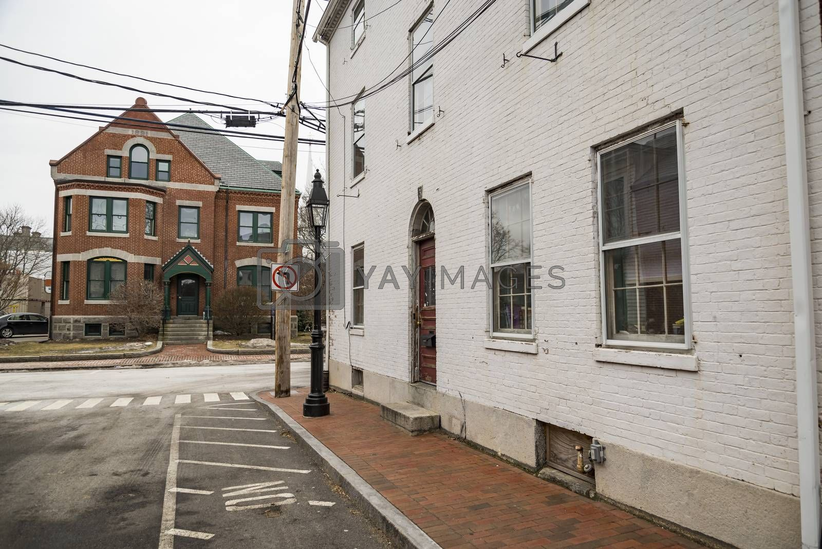 street view of the town of Newburyport, MA America