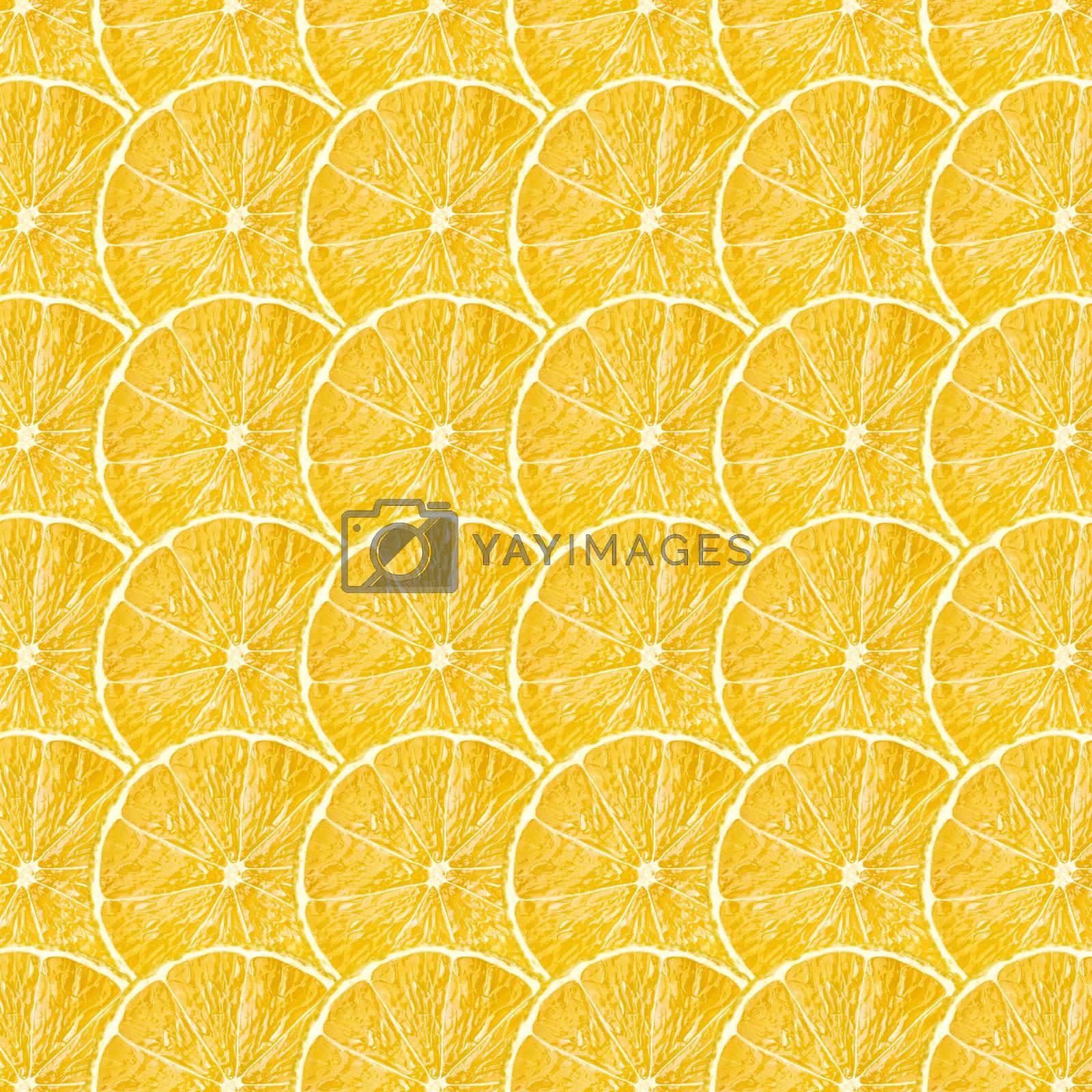 Yellow lemon fruit slices texture by Vaidas Bucys