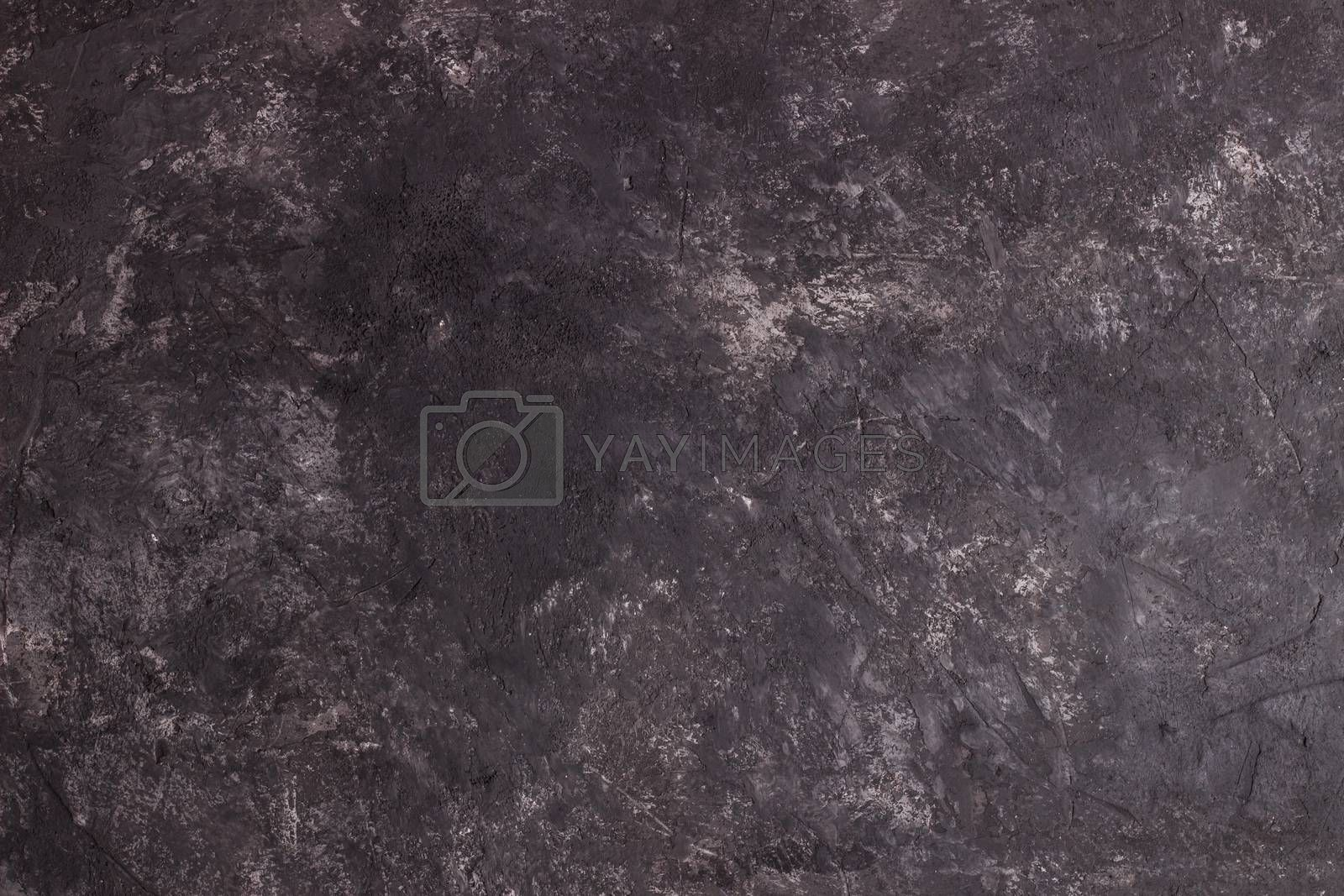 Black stone texture background, old rustic wall