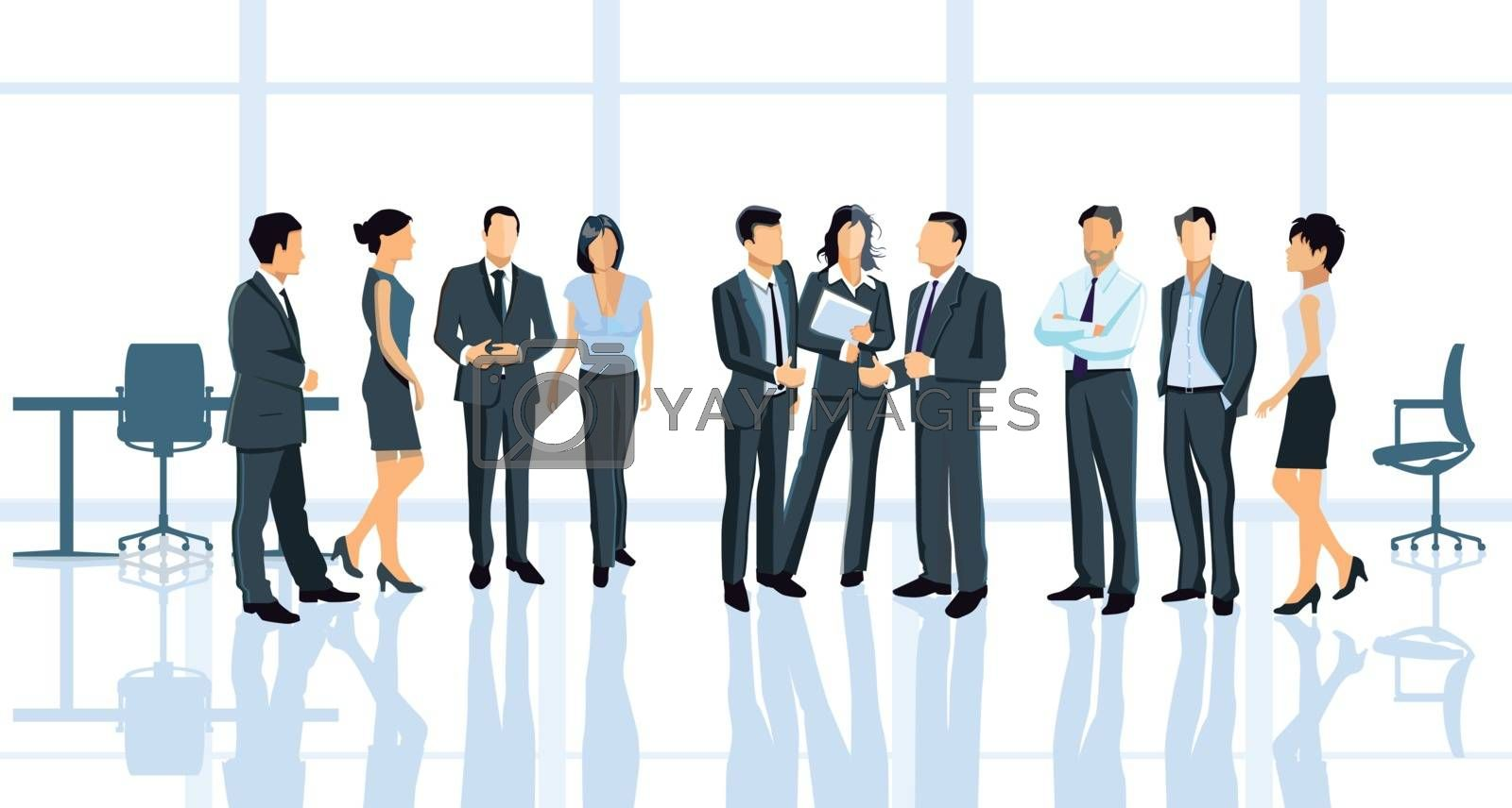 Business agreement in the office with business people