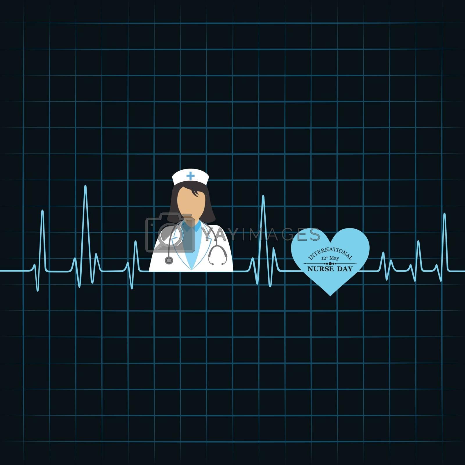 Vector illustration of International Nurse Day stock image and symbols