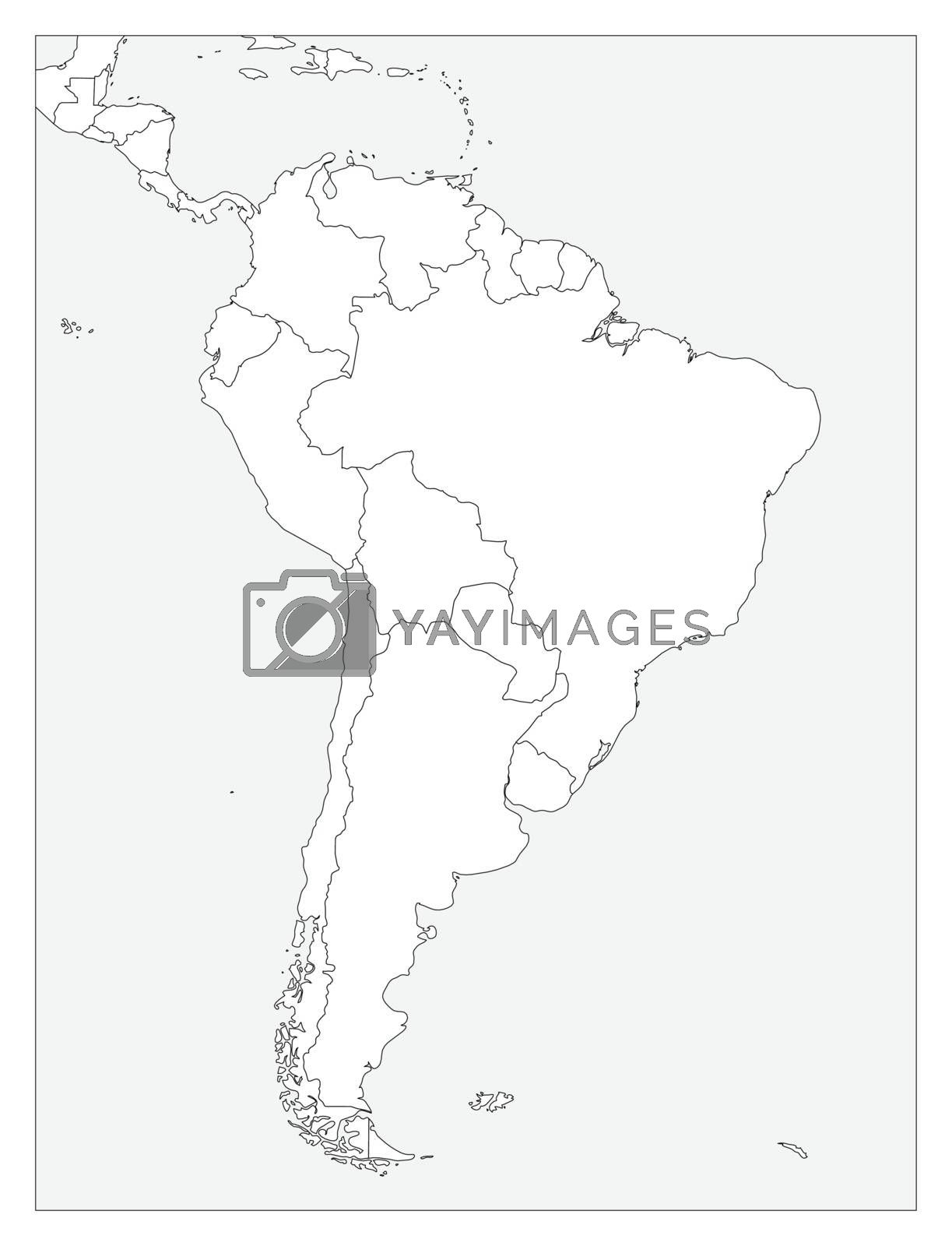 Picture of: Blank Political Map Of South America Simple Flat Vector Outline Map Royalty Free Stock Image Stock Photos Royalty Free Images Vectors Footage Yayimages