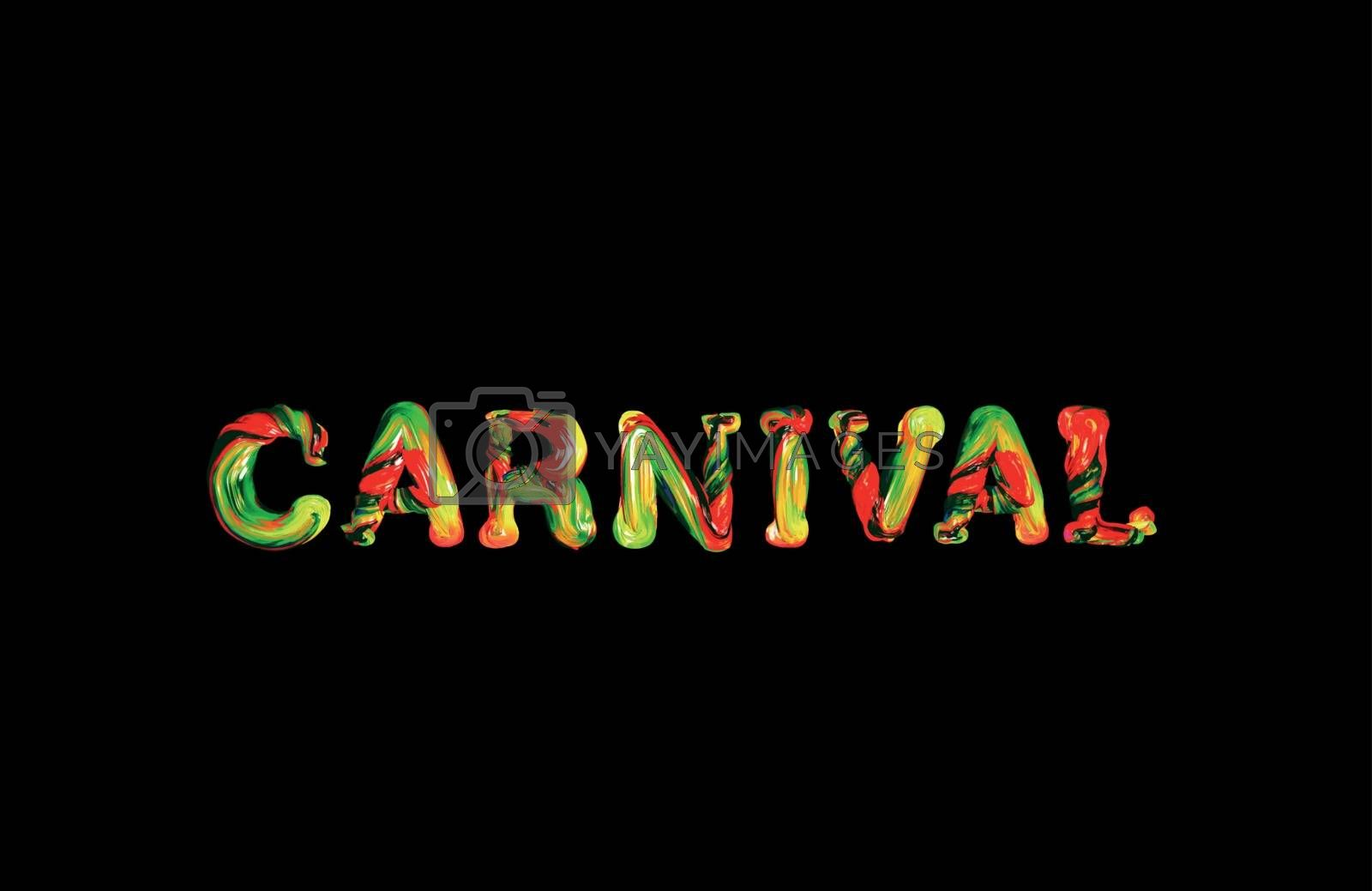 Colorful 3d text carnival by sermax55