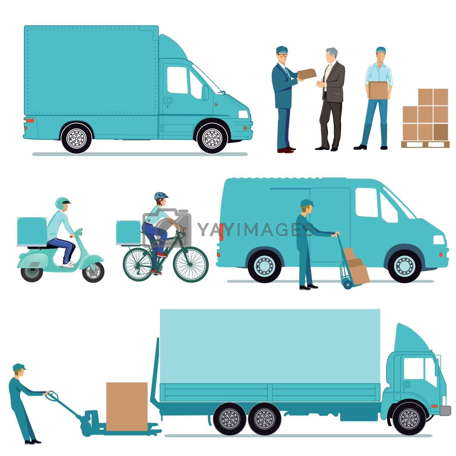 Delivery Concept, freight, transportation