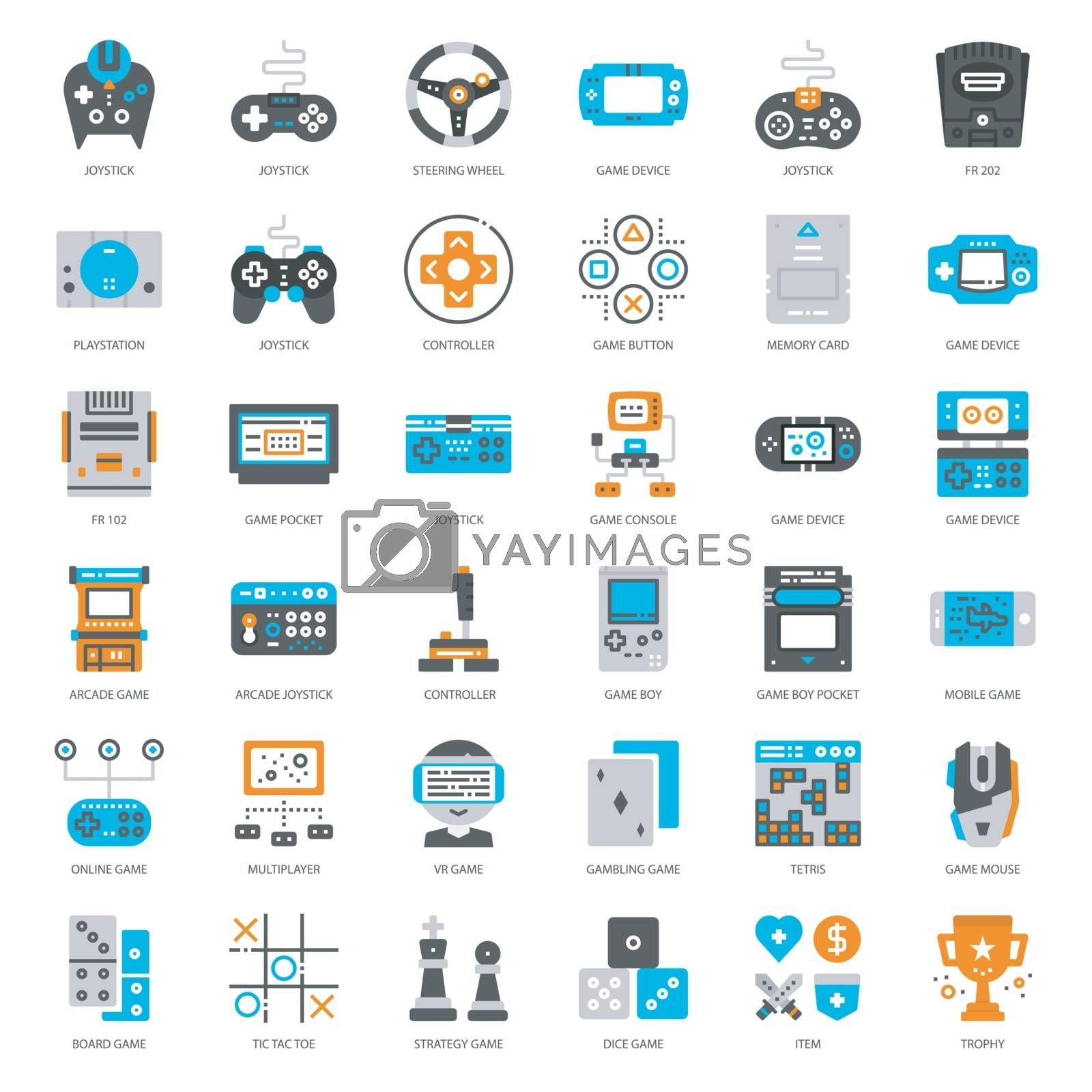 Game Technology flat icon by zirconicusso