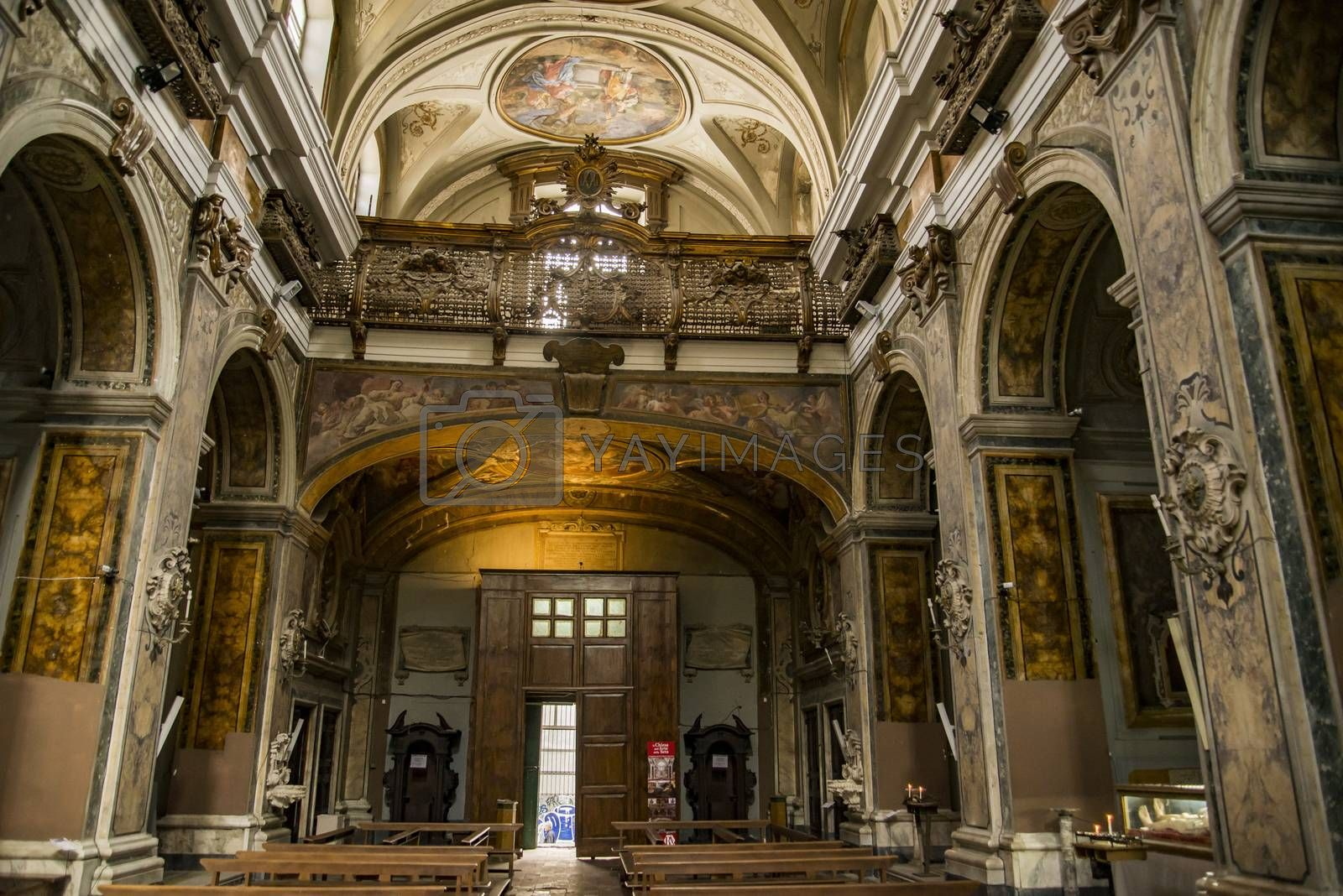 church of silk art, complex of the saints Filippo and Giacomo in Naples, Italy