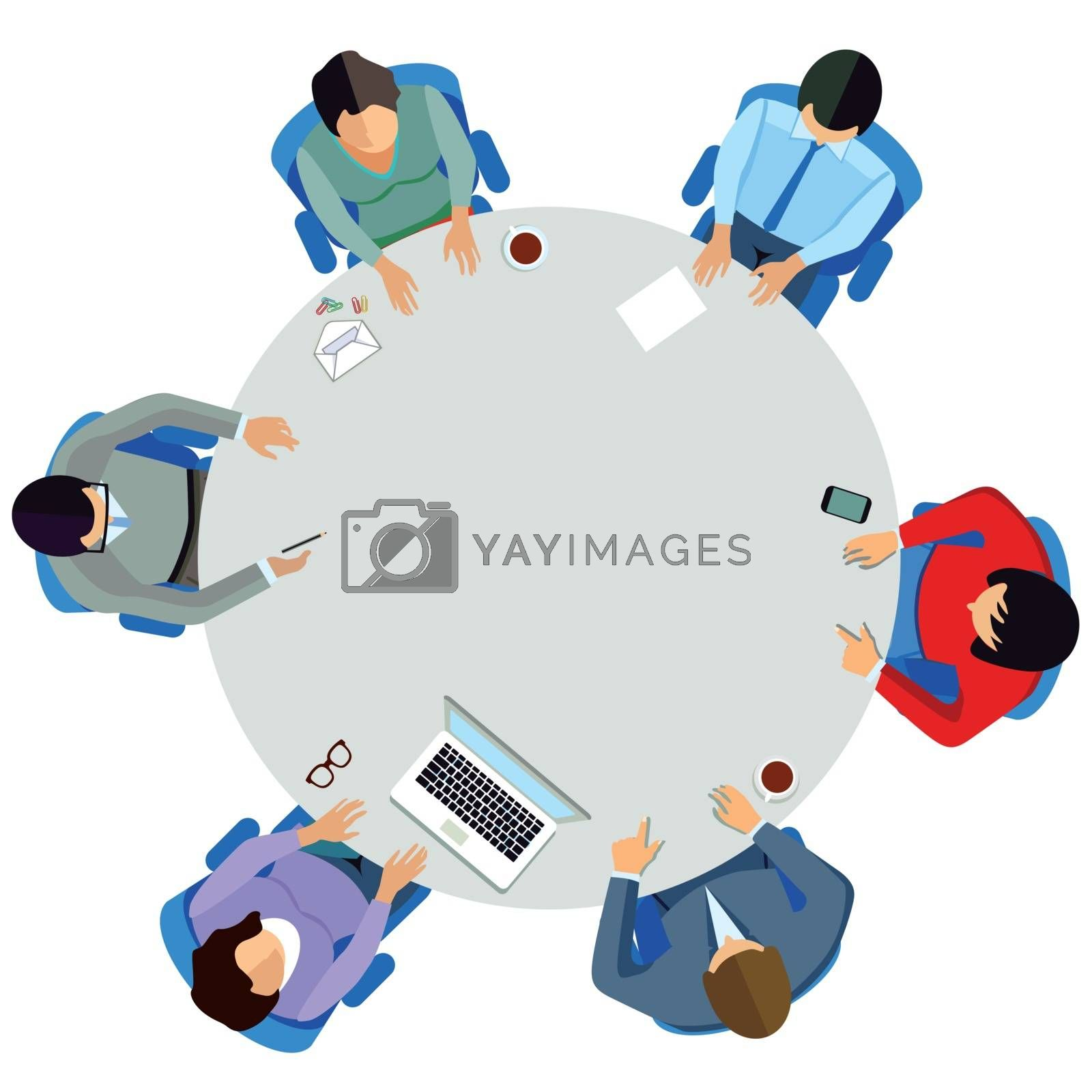Discussion round at the round table