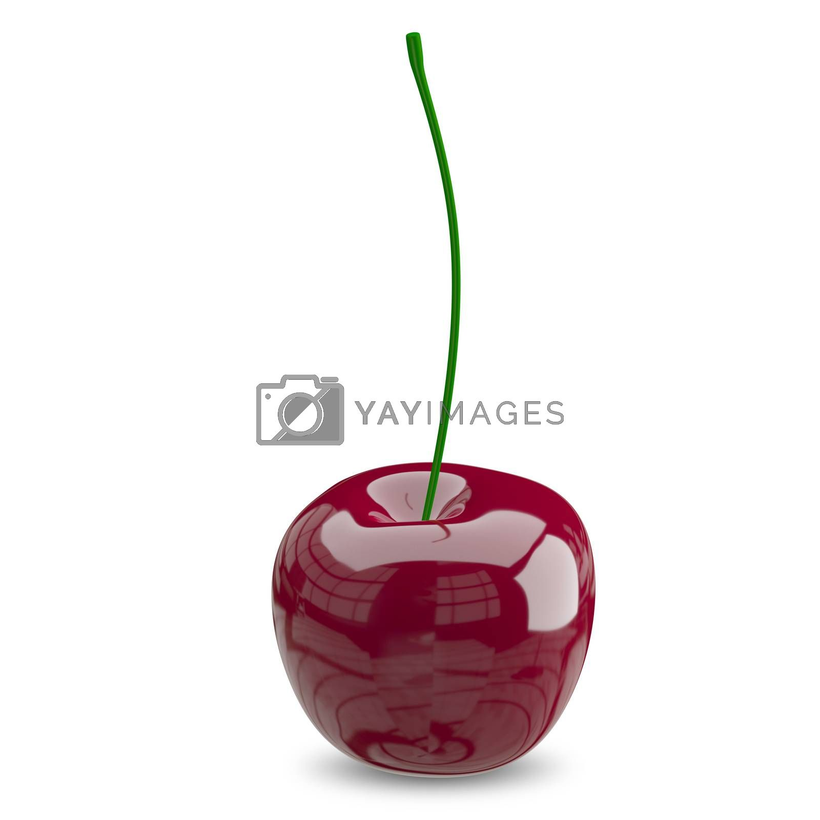 3D Illustration of a Ripe Cherry by brux
