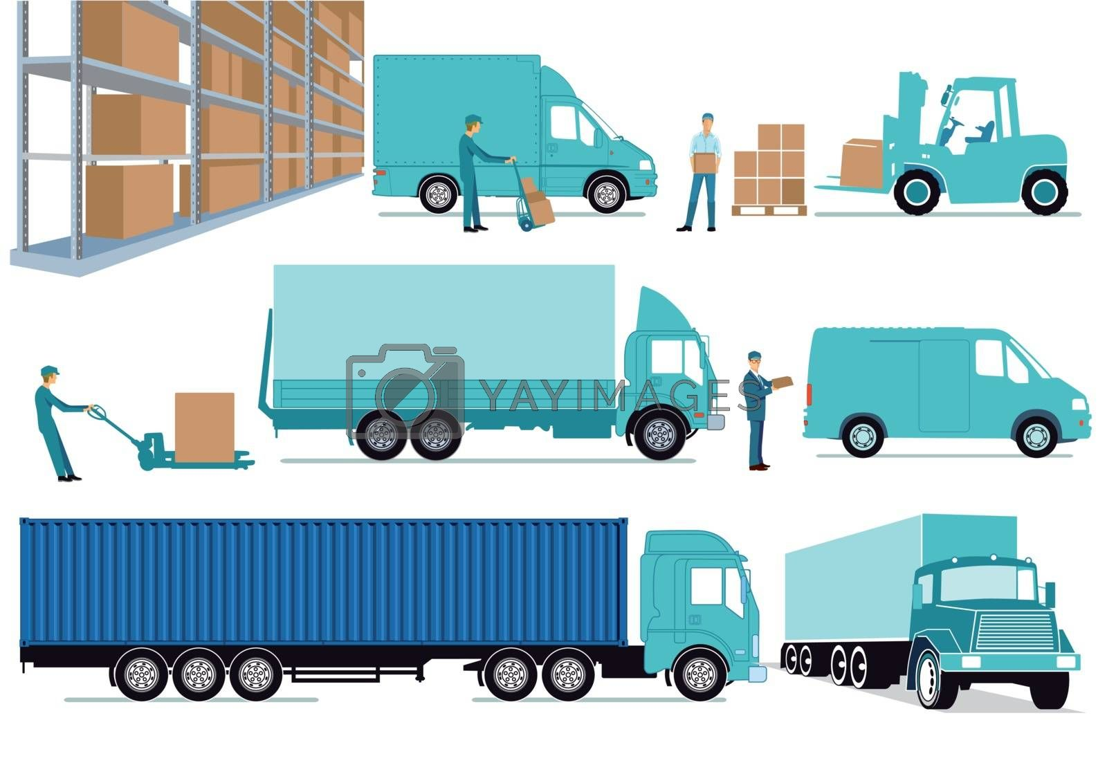 Delivery, storehouse, freight, transportation