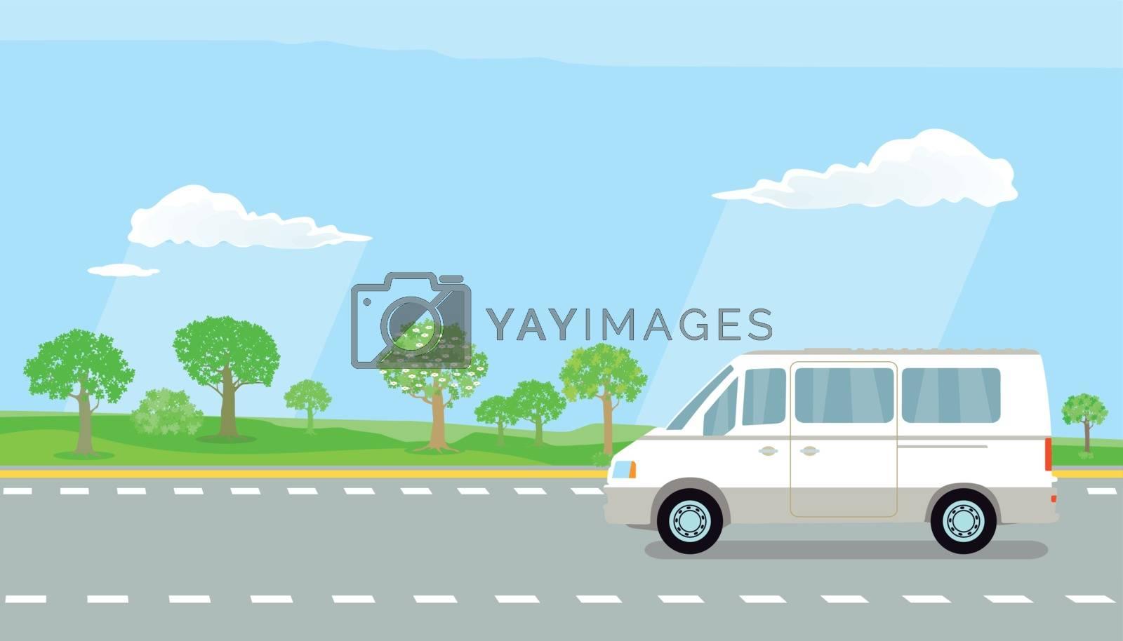 camper on the highway