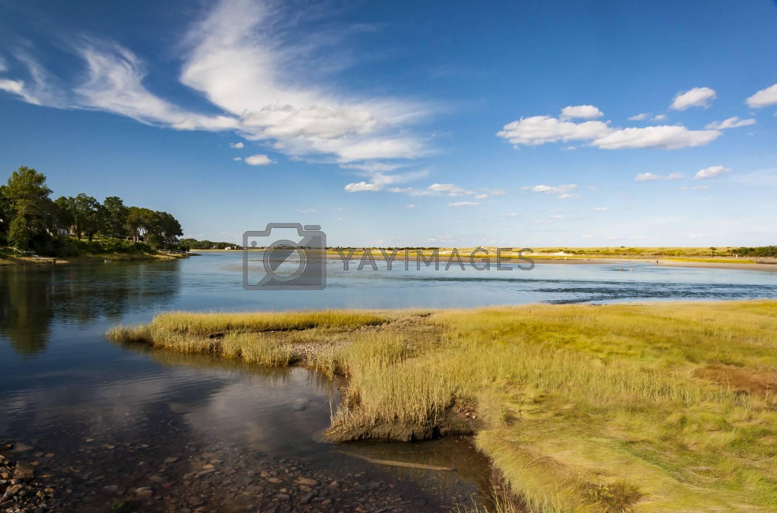 The north Atlantic Ocean coast in Ogunquit, Maine USA