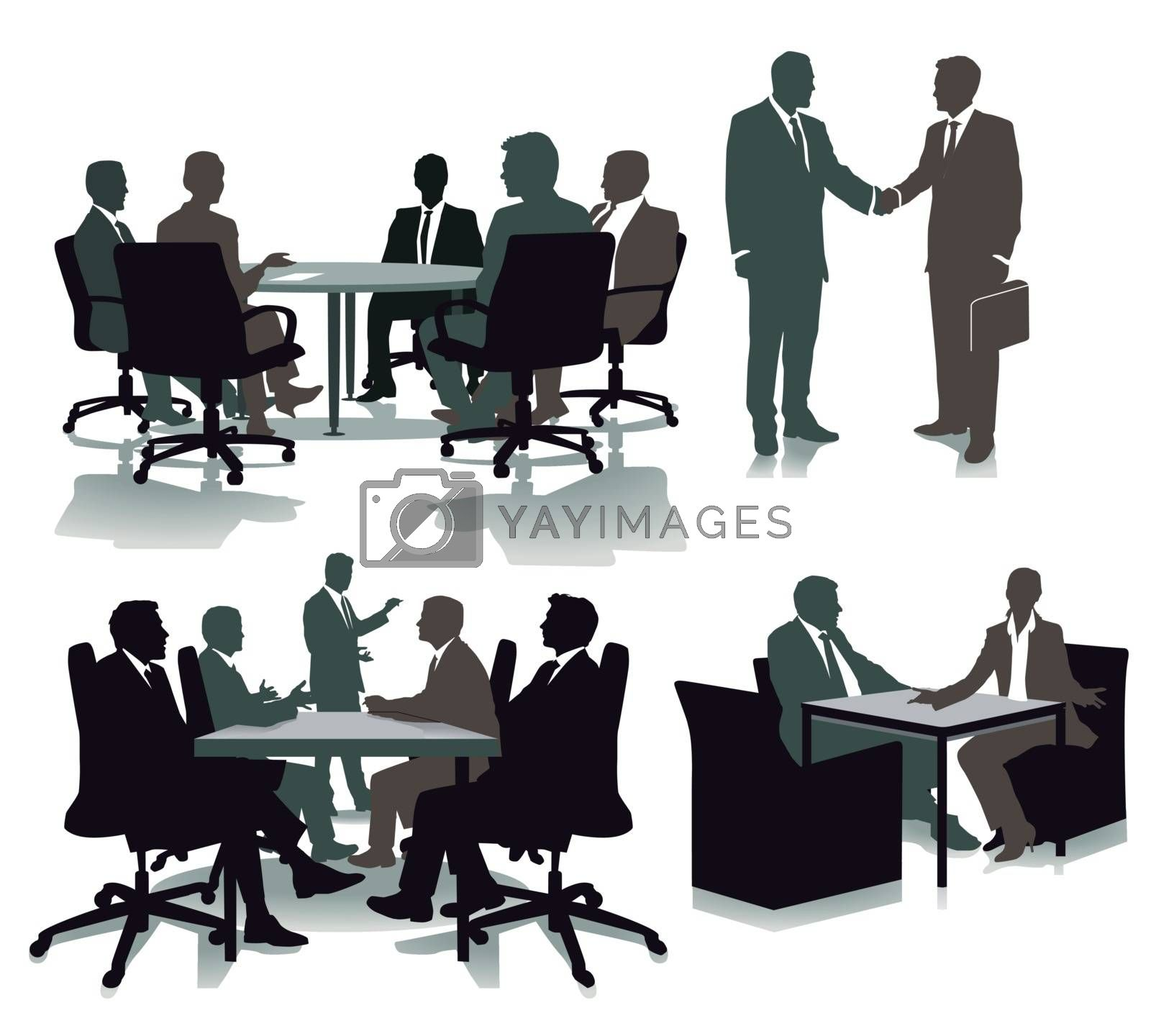 Consulting in the office, illustration
