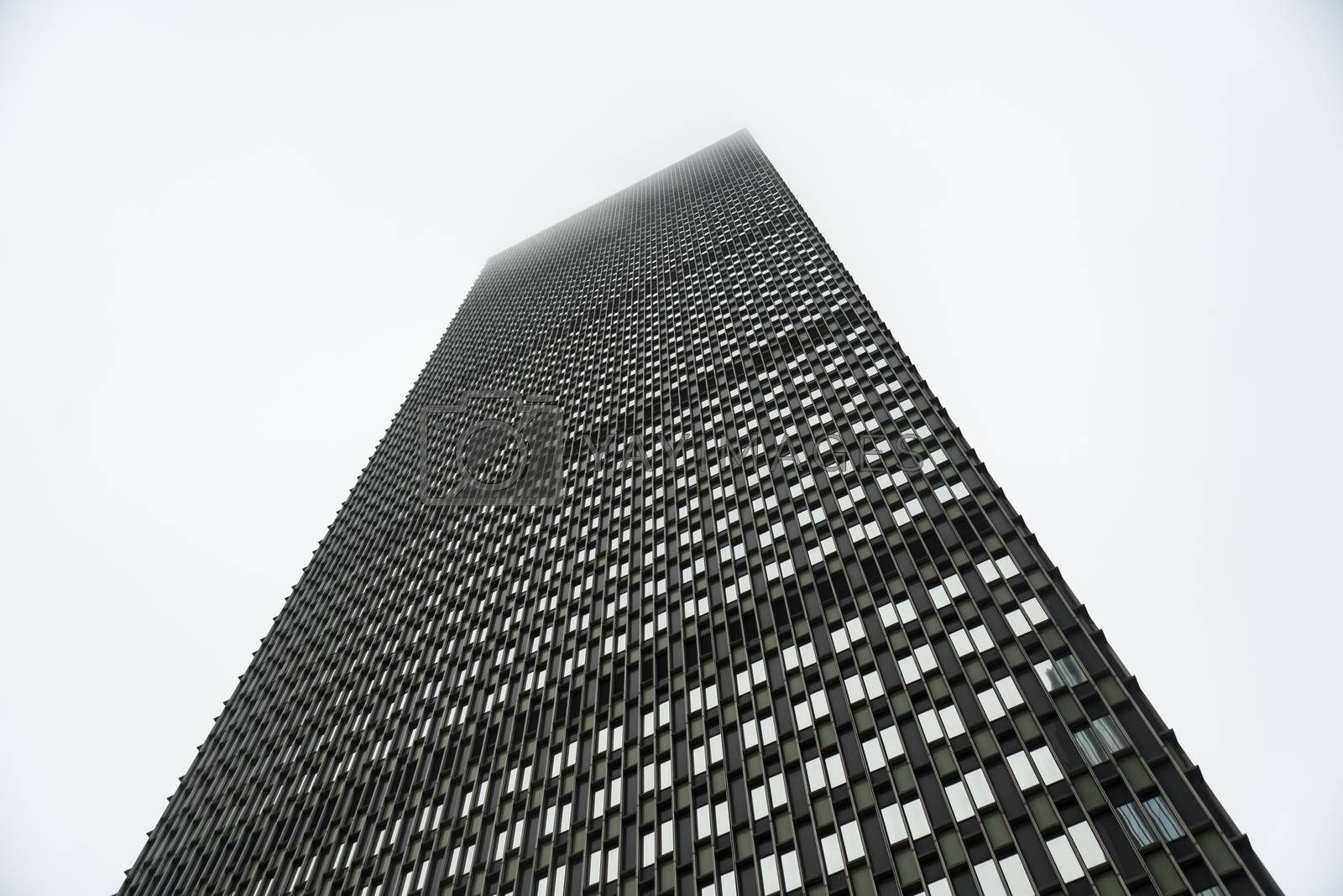 The skylione of Prudential Tower in Boston ME, USA