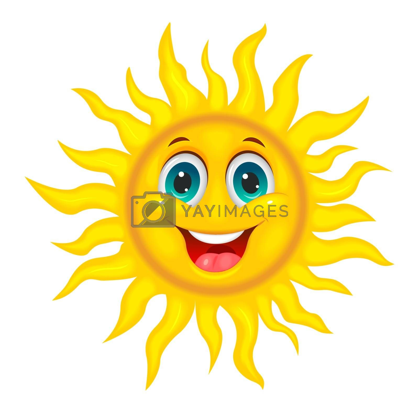 Smiley joyful sun by liolle
