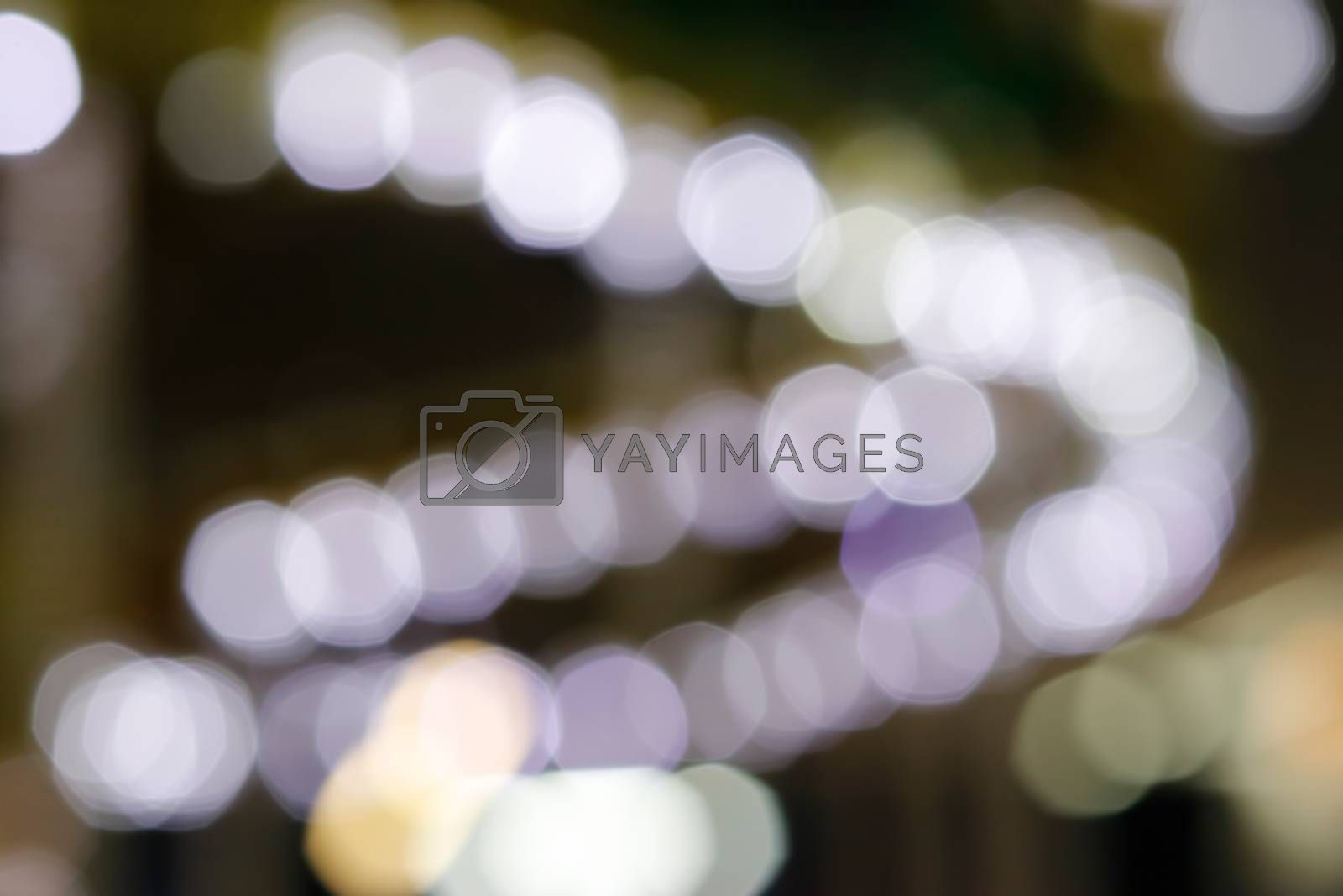 Soft bokeh attraction bright and colorful lights background