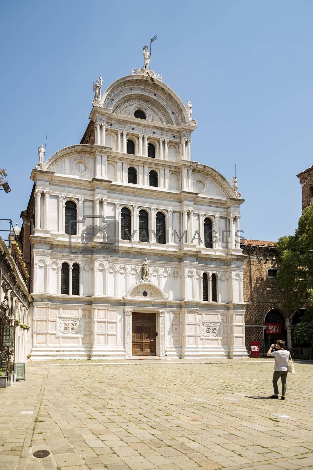St. Zacharias church in Venice, dedicated to the father of John the Baptist, whose body it supposedly contains. Mixture of gothic and renaissance style.
