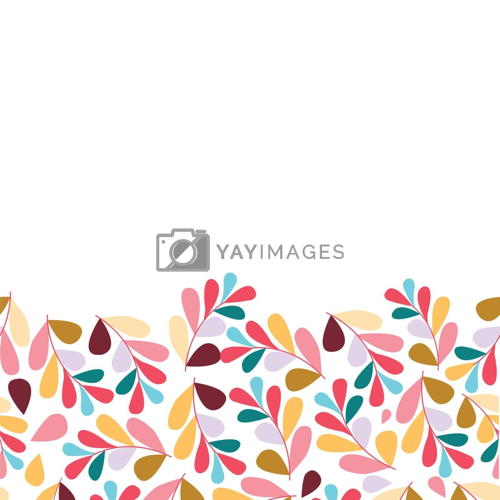 Colorful leaves set isolated on white background