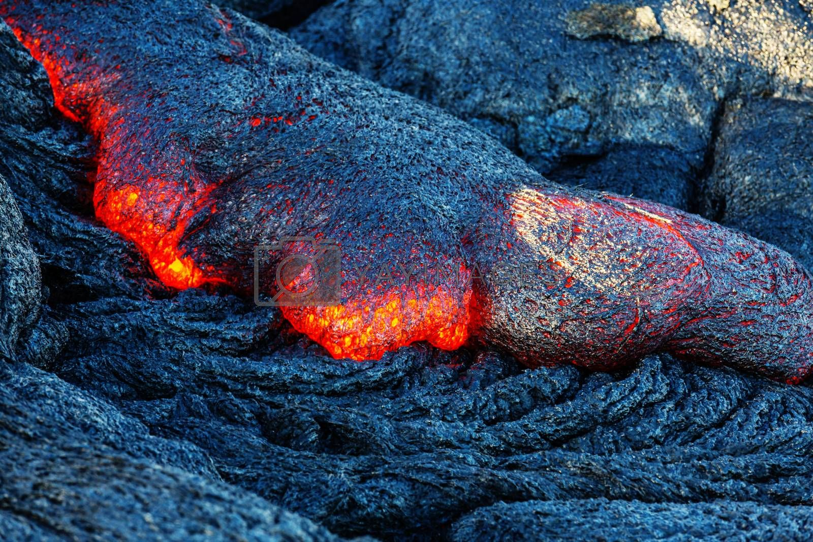lava flow on Big Island, Hawaii