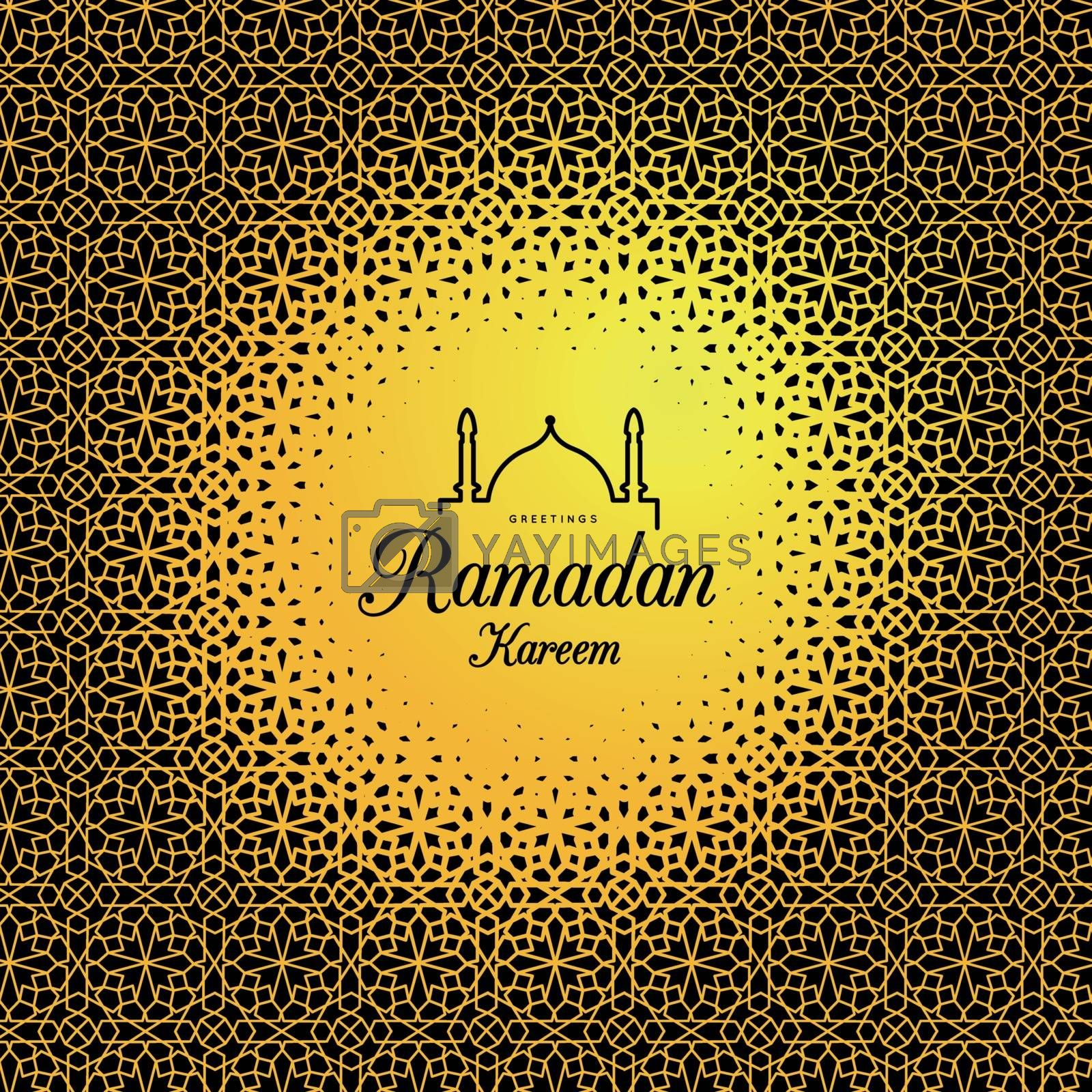 Royalty free image of Ramadan Kareem. Congratulations on the holiday. Vector by sermax55