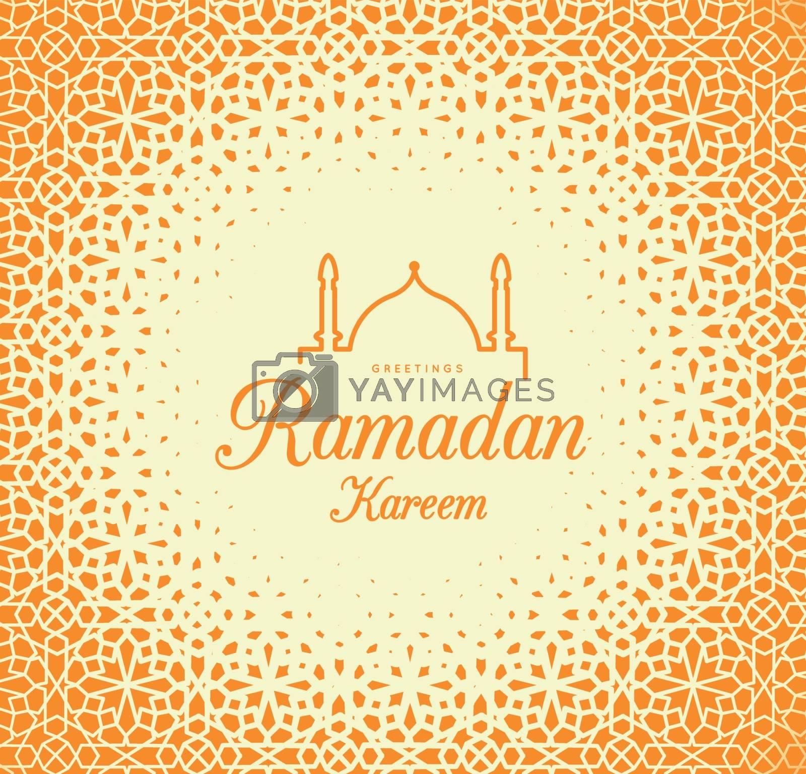 Royalty free image of Ramadan Kareem. Congratulations on the holiday. Vector by sermax55