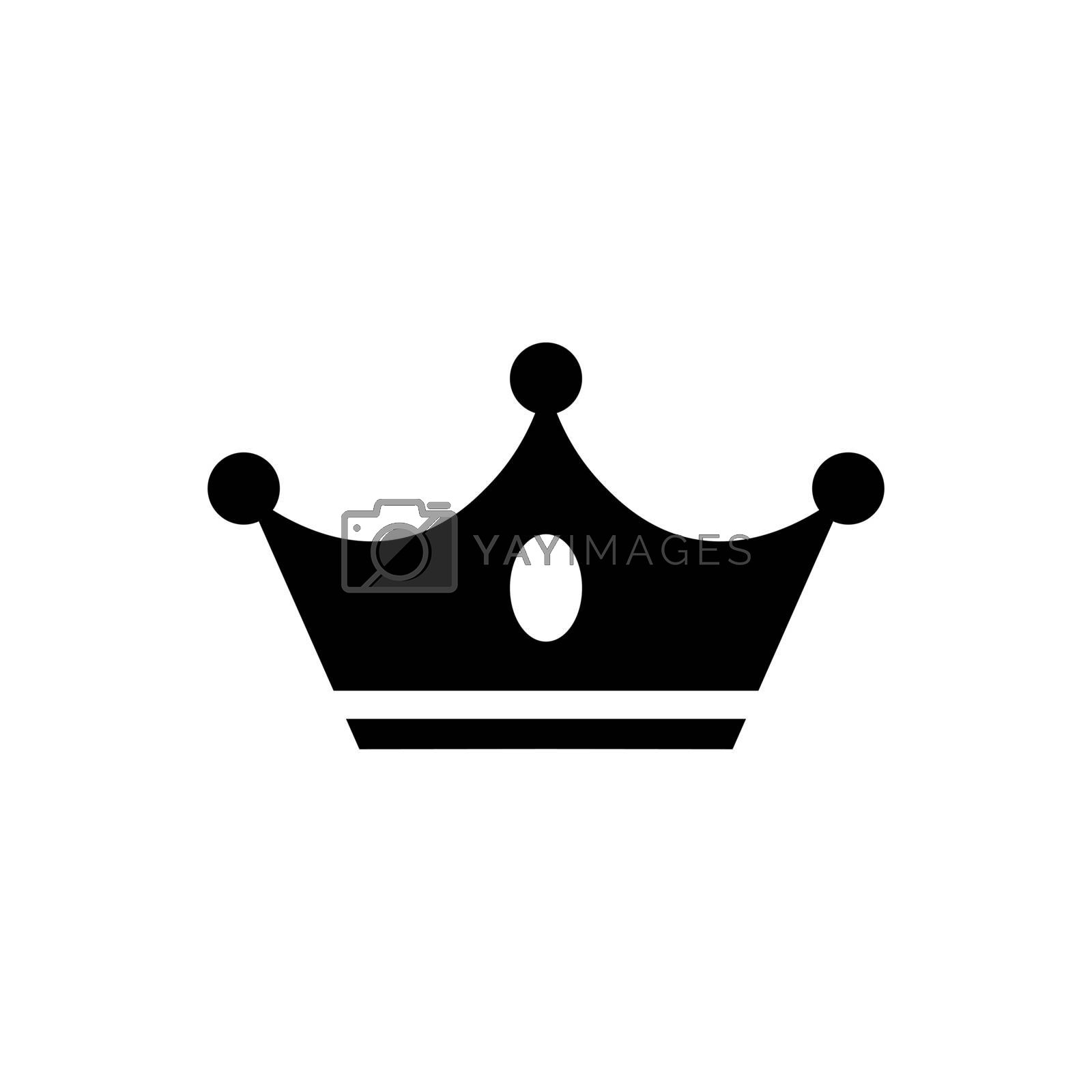 Crown Icon in flat style. Crown symbol isolated on white background. Abstract crown vector icon for your web site design, logo, app, UI. Vector illustration.