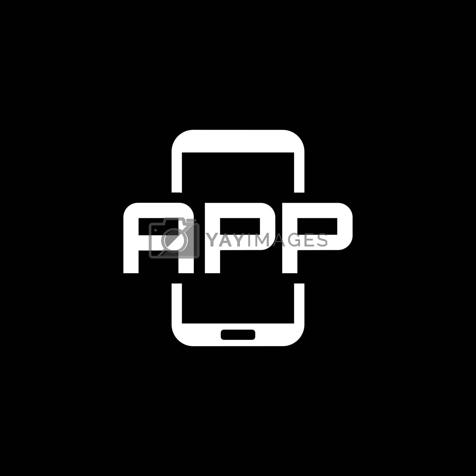 Mobile Application Icon. Flat Design. Mobile Devices and Services Concept. Isolated Illustration.