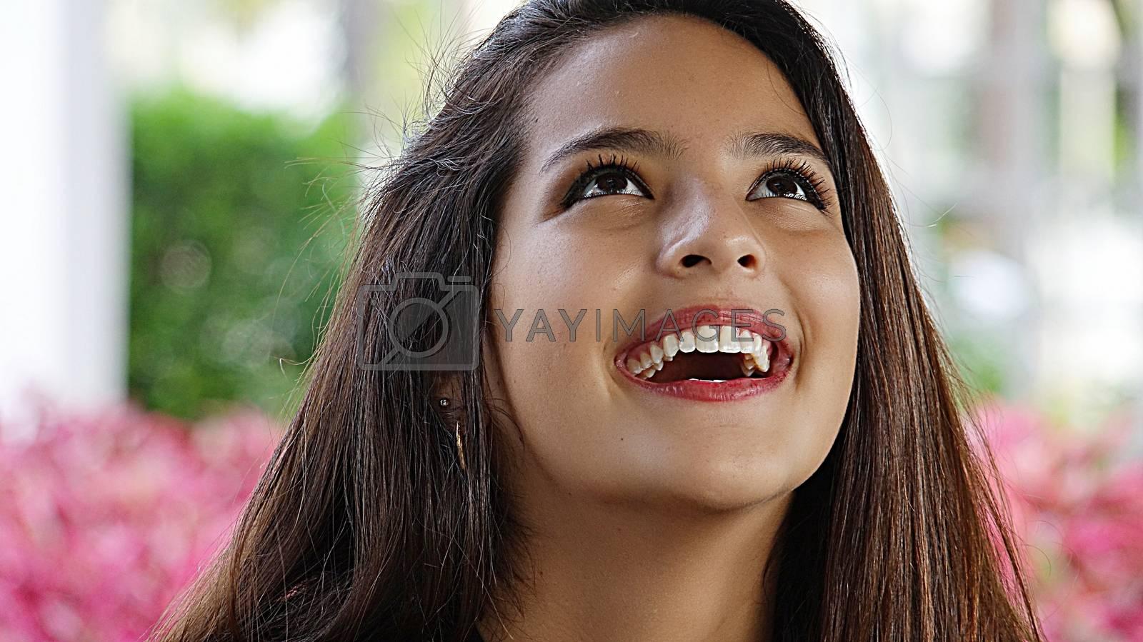 Laughing Youthful Female